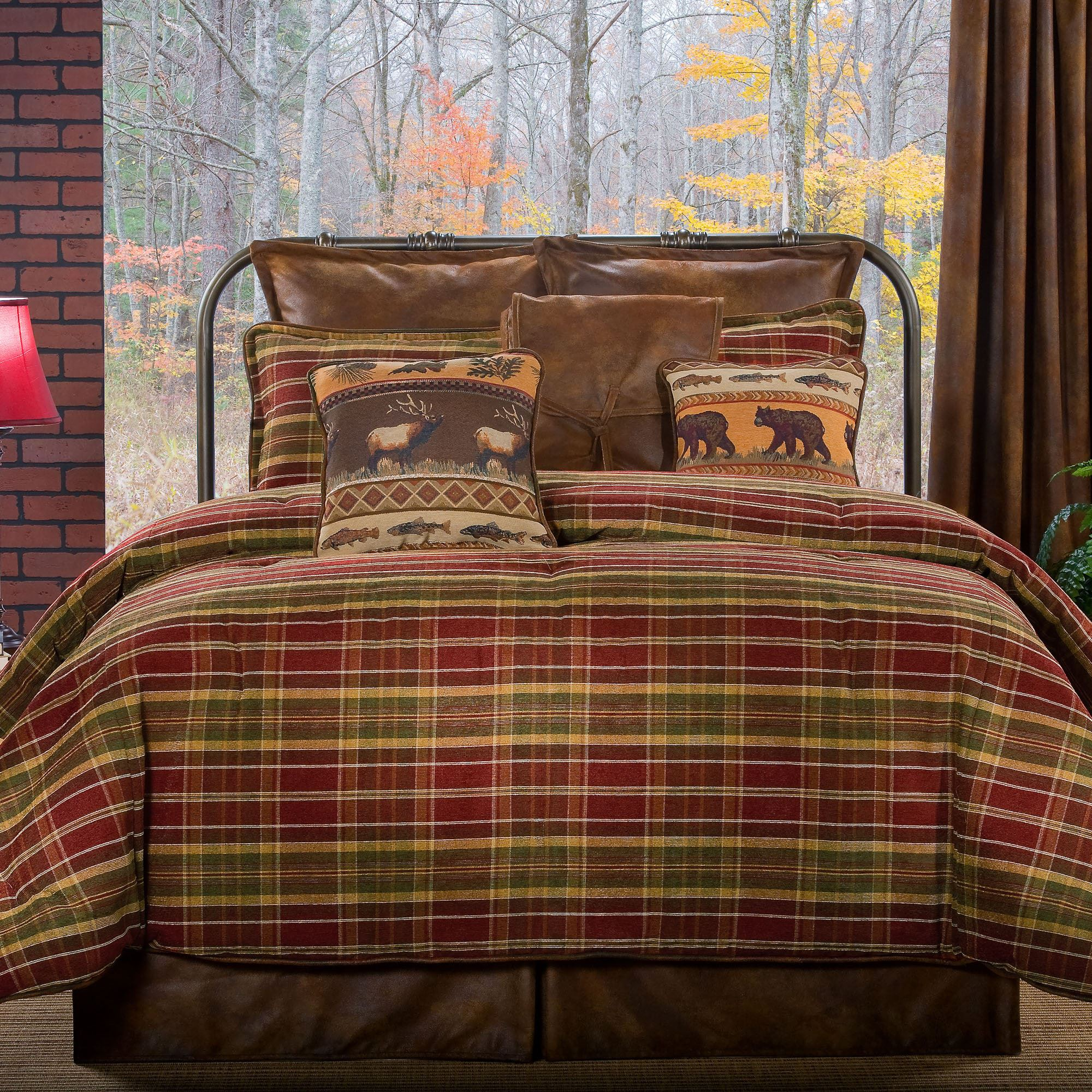 Montana Morning Rustic Plaid Comforter Bedding