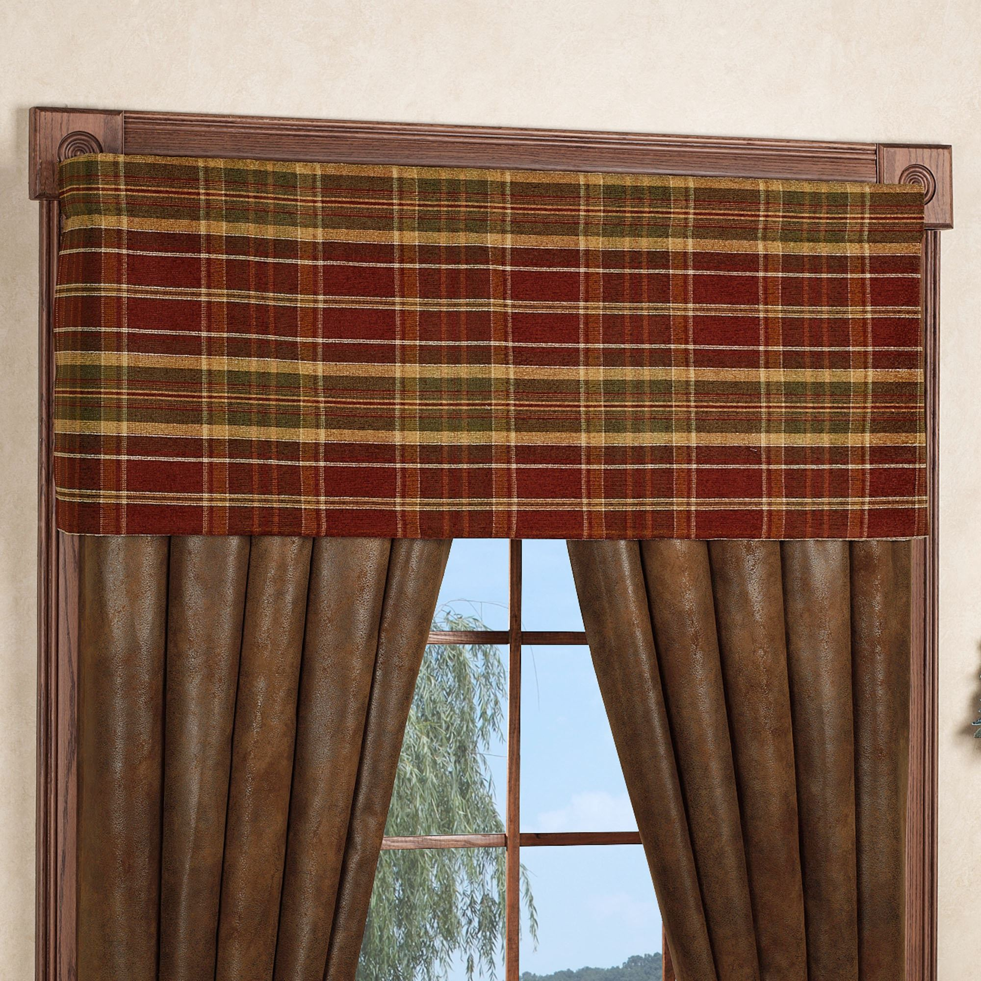 x wide tailored montana and curtains treatments pair rustic window curtain p morning treatment valance chocolate