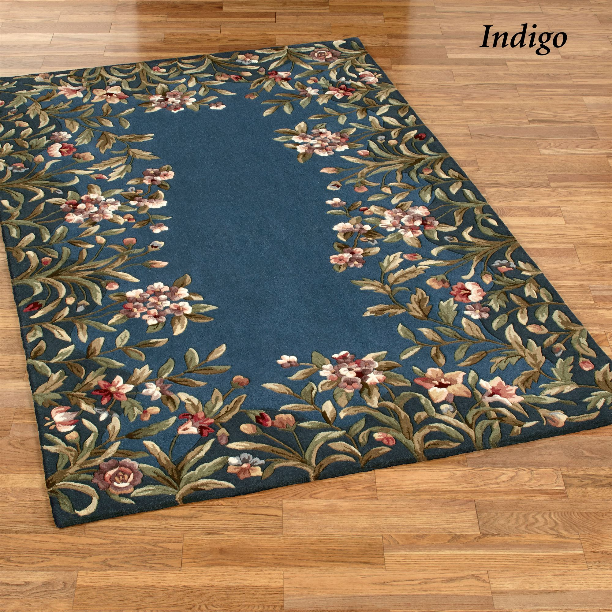 Felisha Floral Border Area Rugs