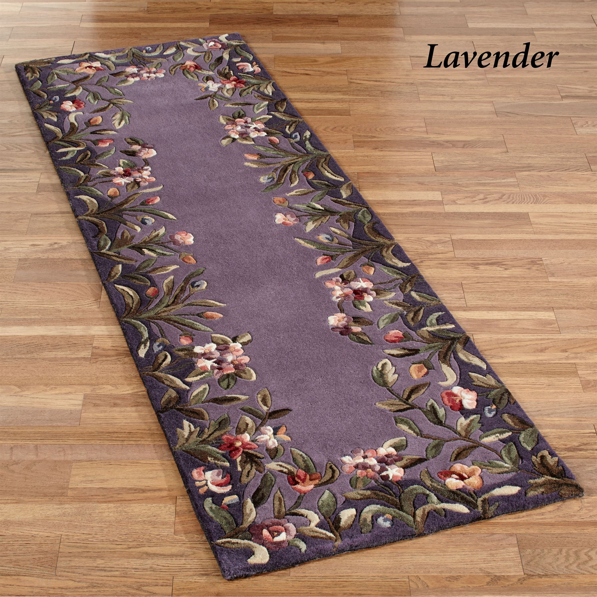 Felisha Floral Border Rug Runners