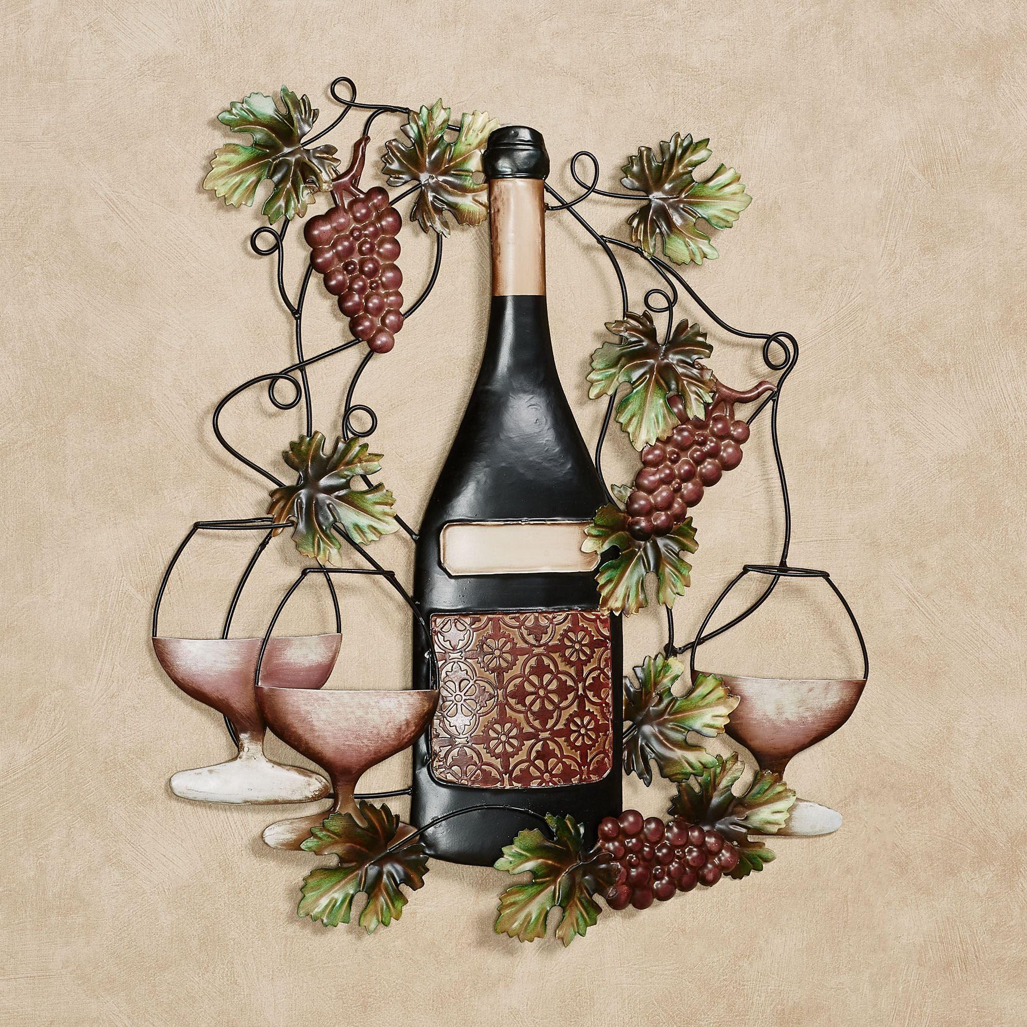 Port Classique Wine Bottle Metal Wall Art