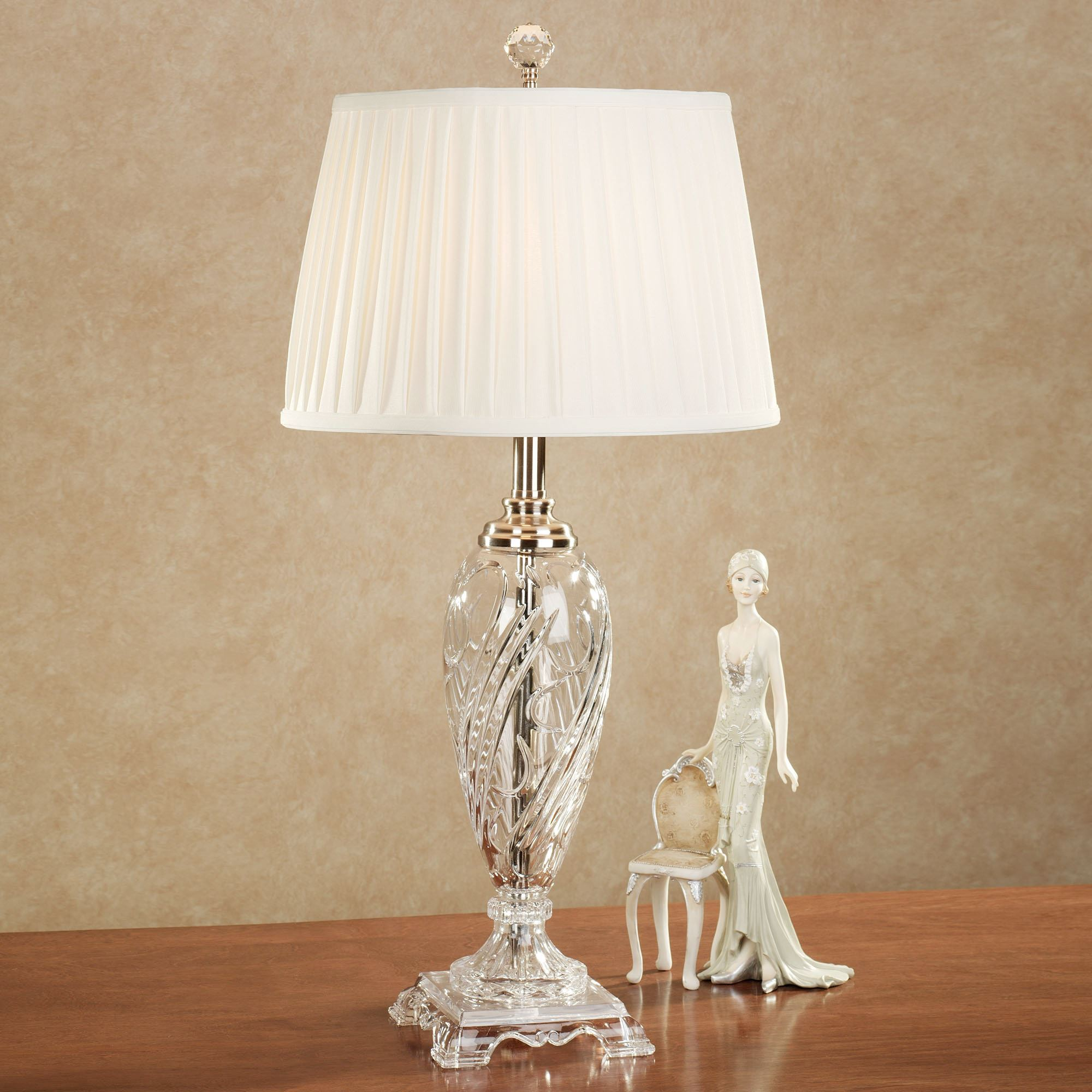 Morgana Crystal Table Lamp Polished Nickel. Click To Expand