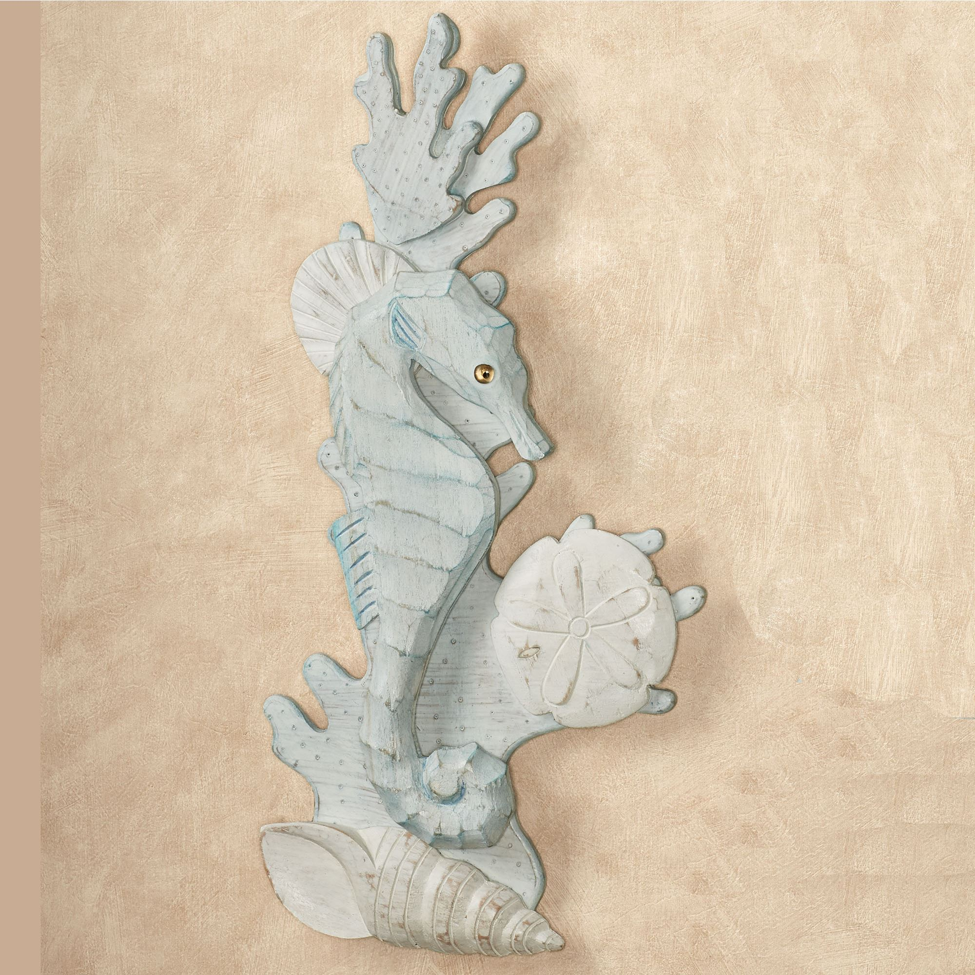 seahorses in reef wooden wall art. Black Bedroom Furniture Sets. Home Design Ideas
