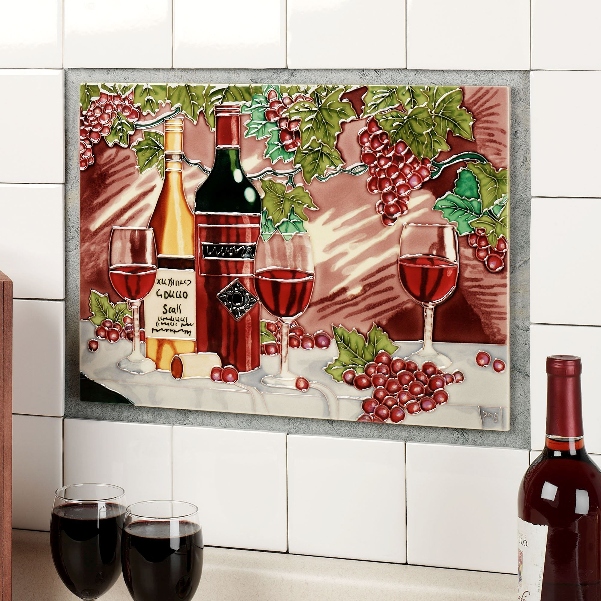 At the winery ceramic tile wall art ceramic tile wall art at the winery wall art red click to expand dailygadgetfo Images