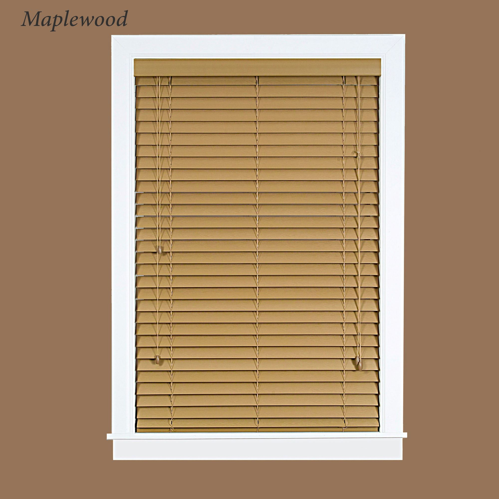 Faux Wood Plantation Window Blinds