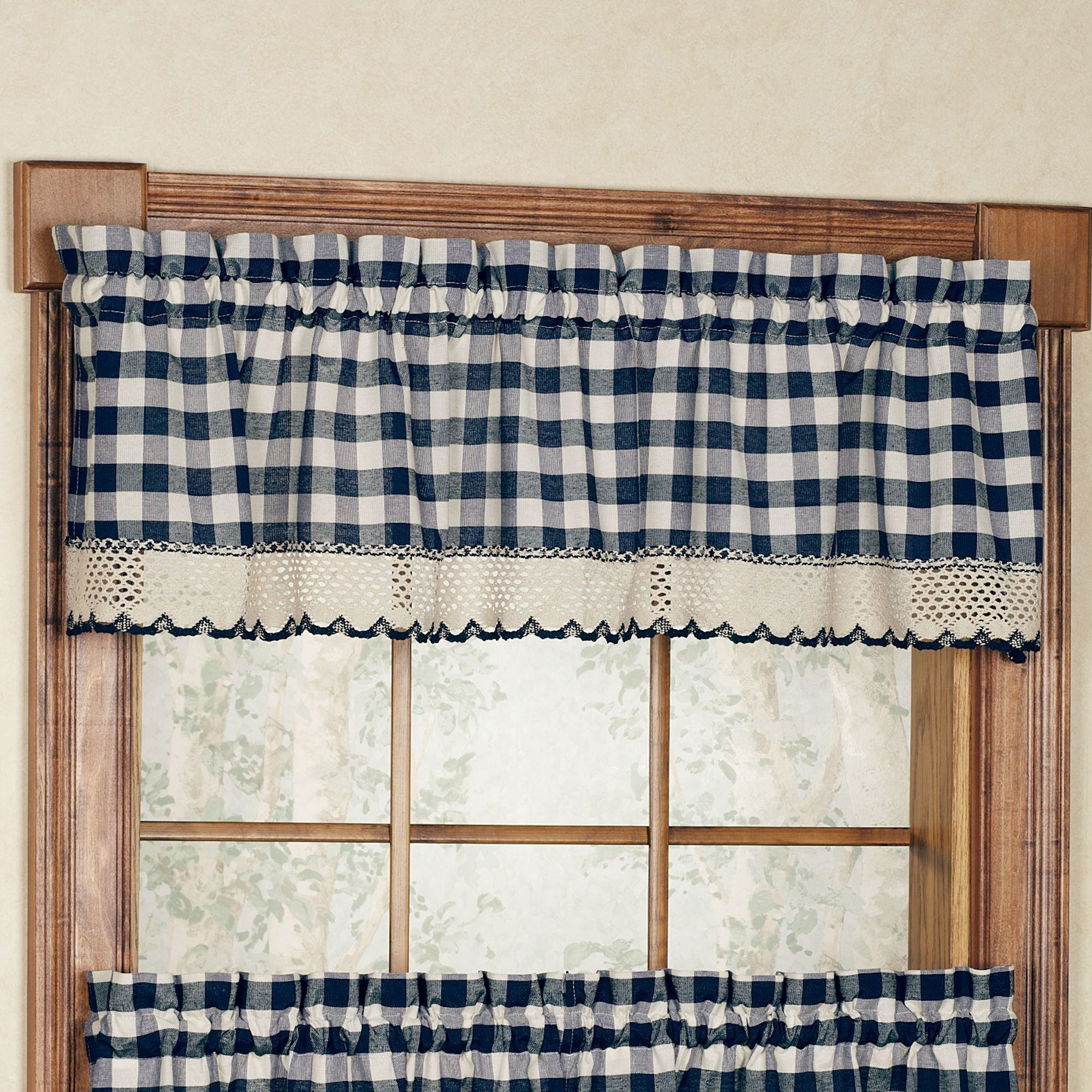 Buffalo Check Tailored Valance 58 X 14 Touch Of Class