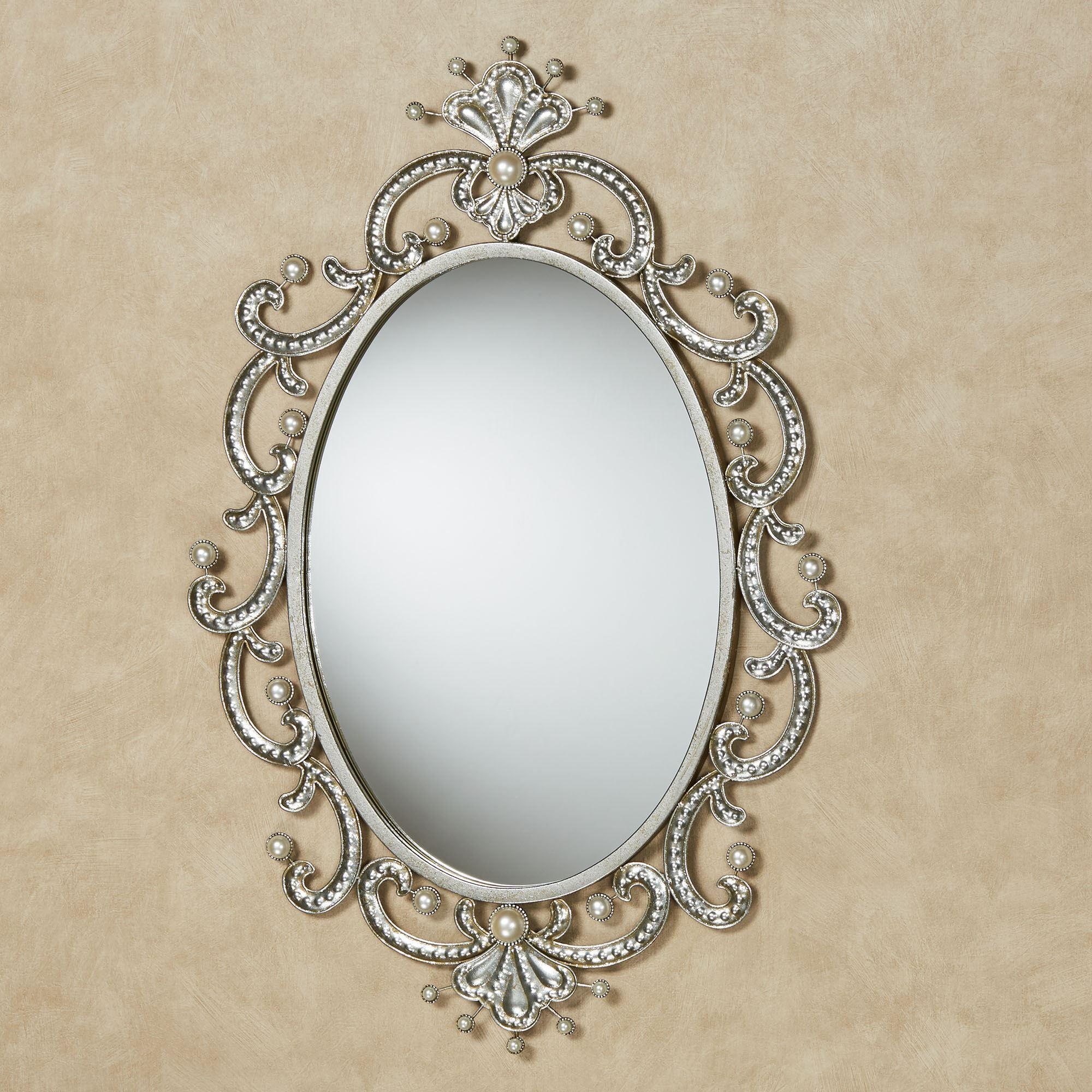 Giorgianna Pearl Oval Wall Mirror