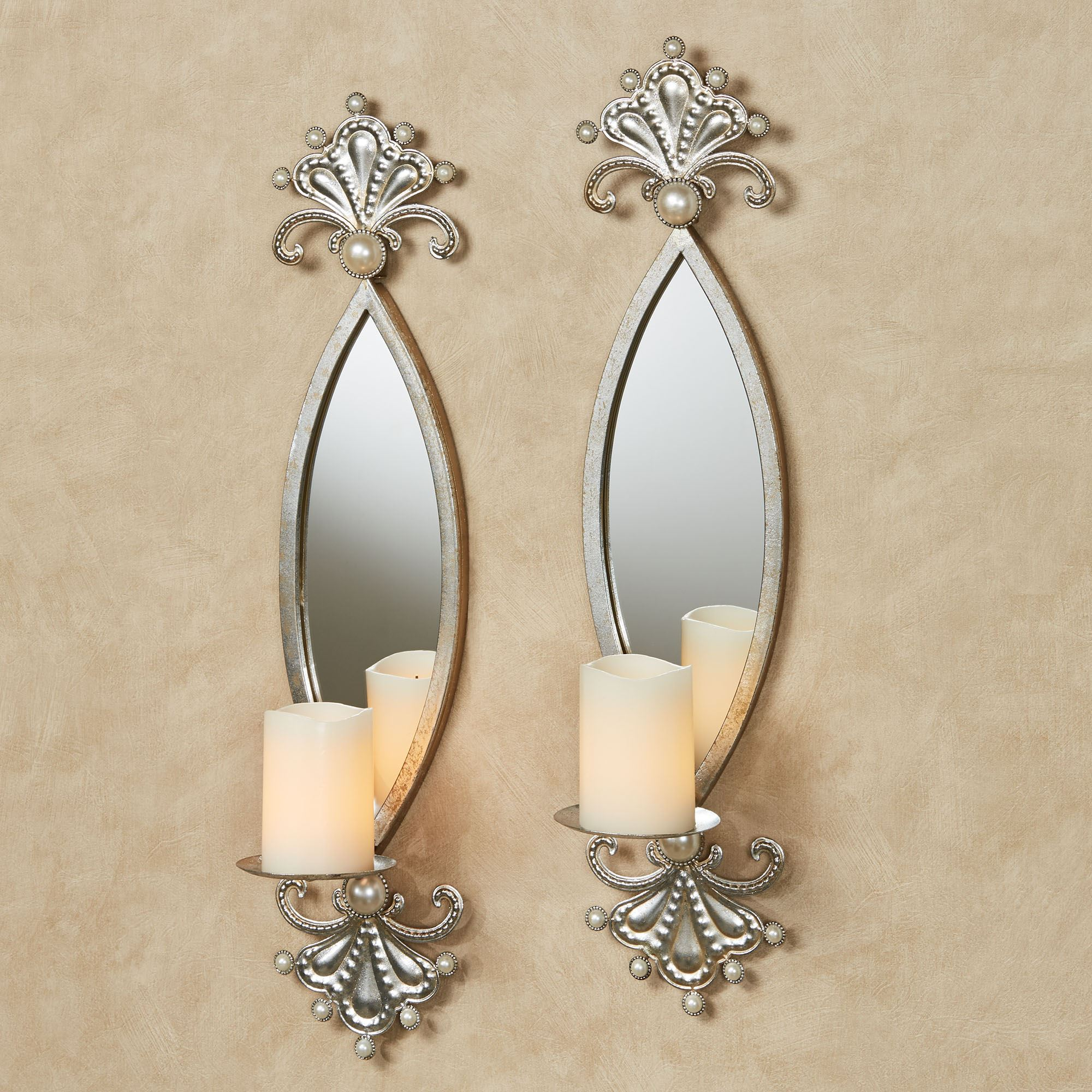 Giorgianna Pearl Mirrored Wall Sconce Pair