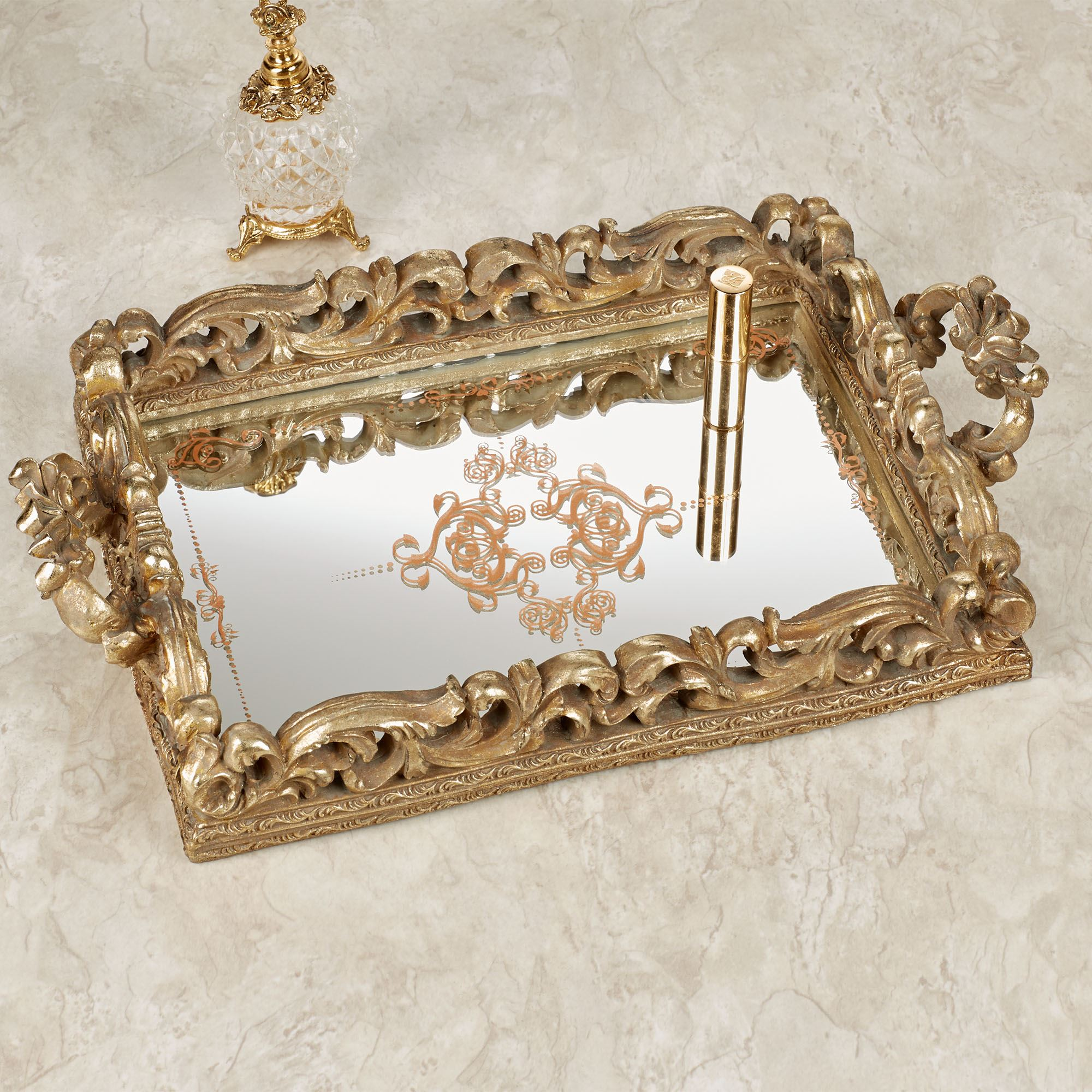 pdp joss reviews home mirrored sasha vanity decor main tray