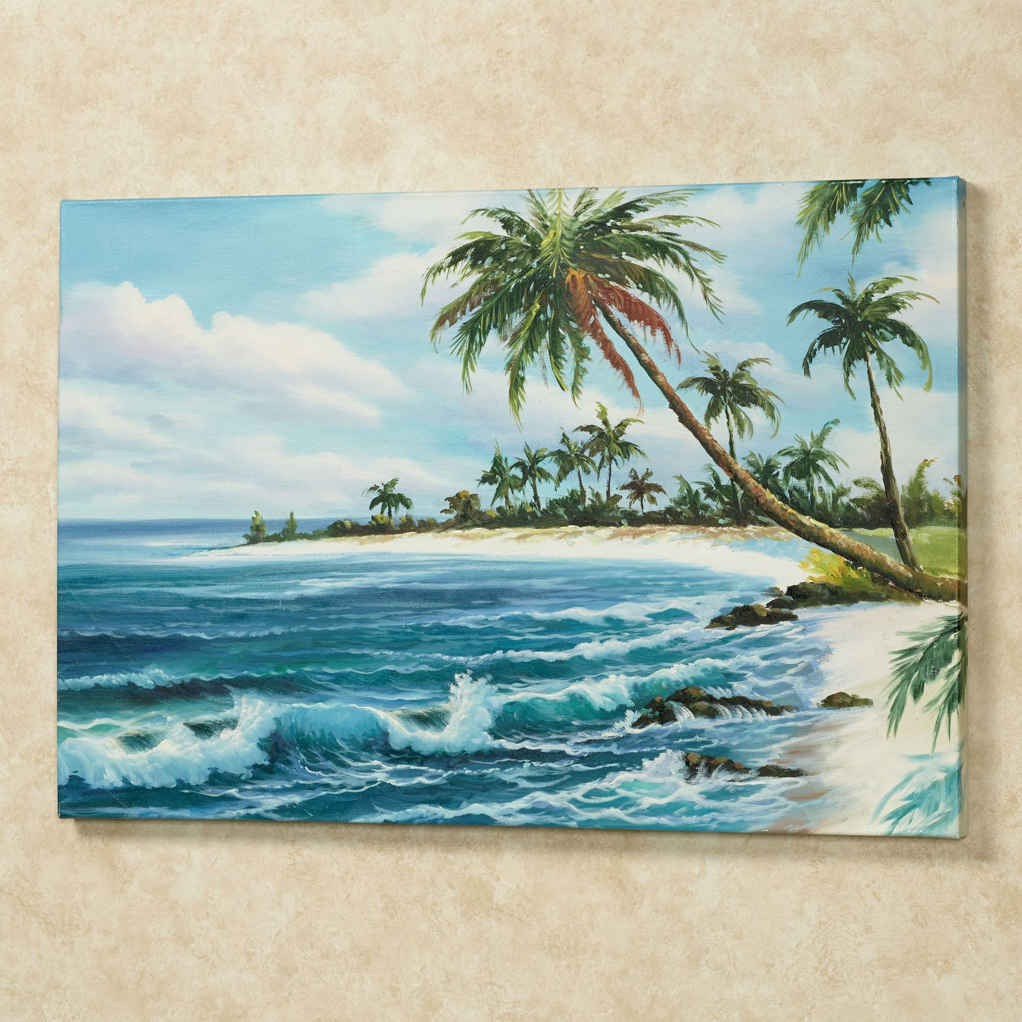 Tropical View Palm Tree Canvas Wall Art