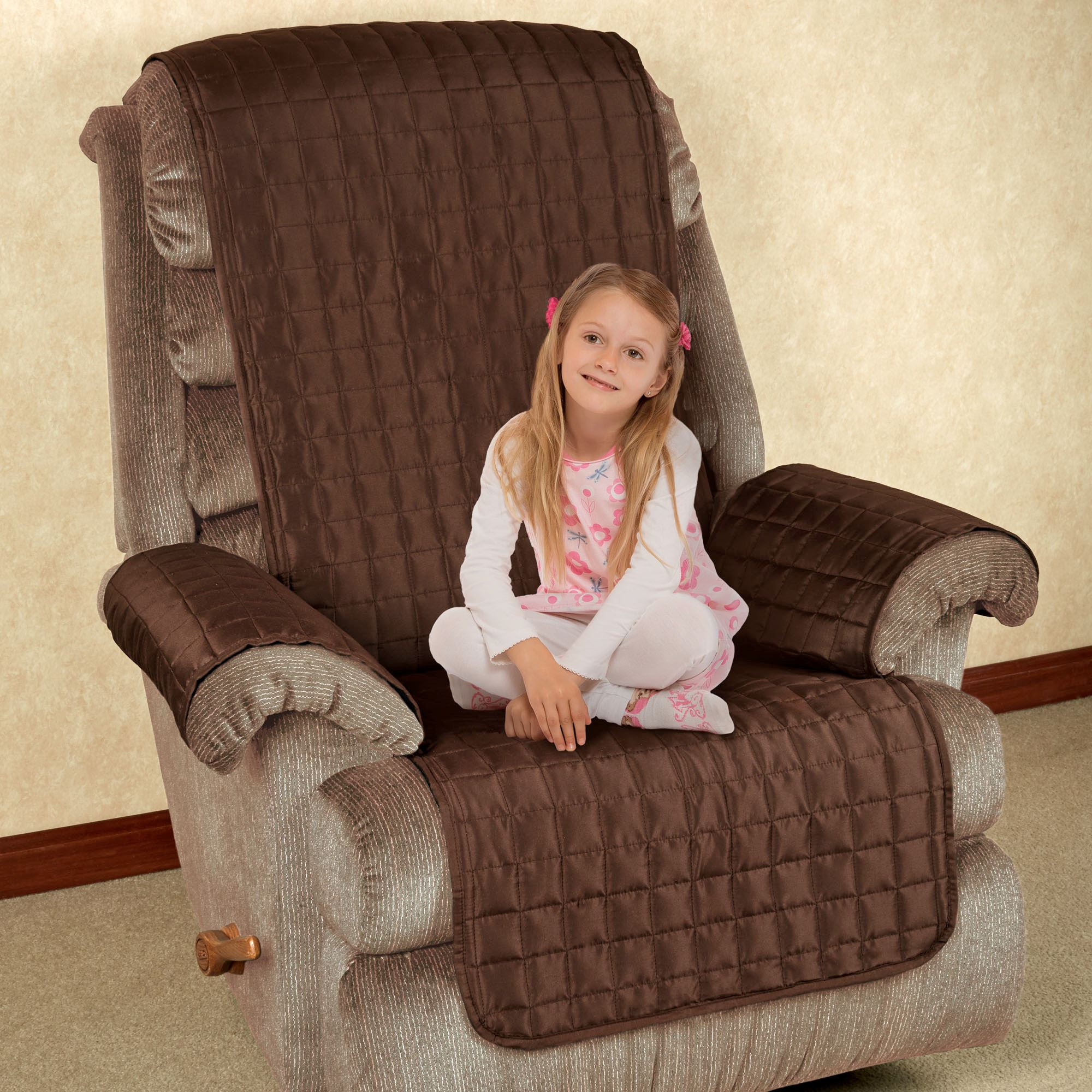 Microfiber Pet Furniture Recliner/Wing Chair Cover. Touch To Zoom