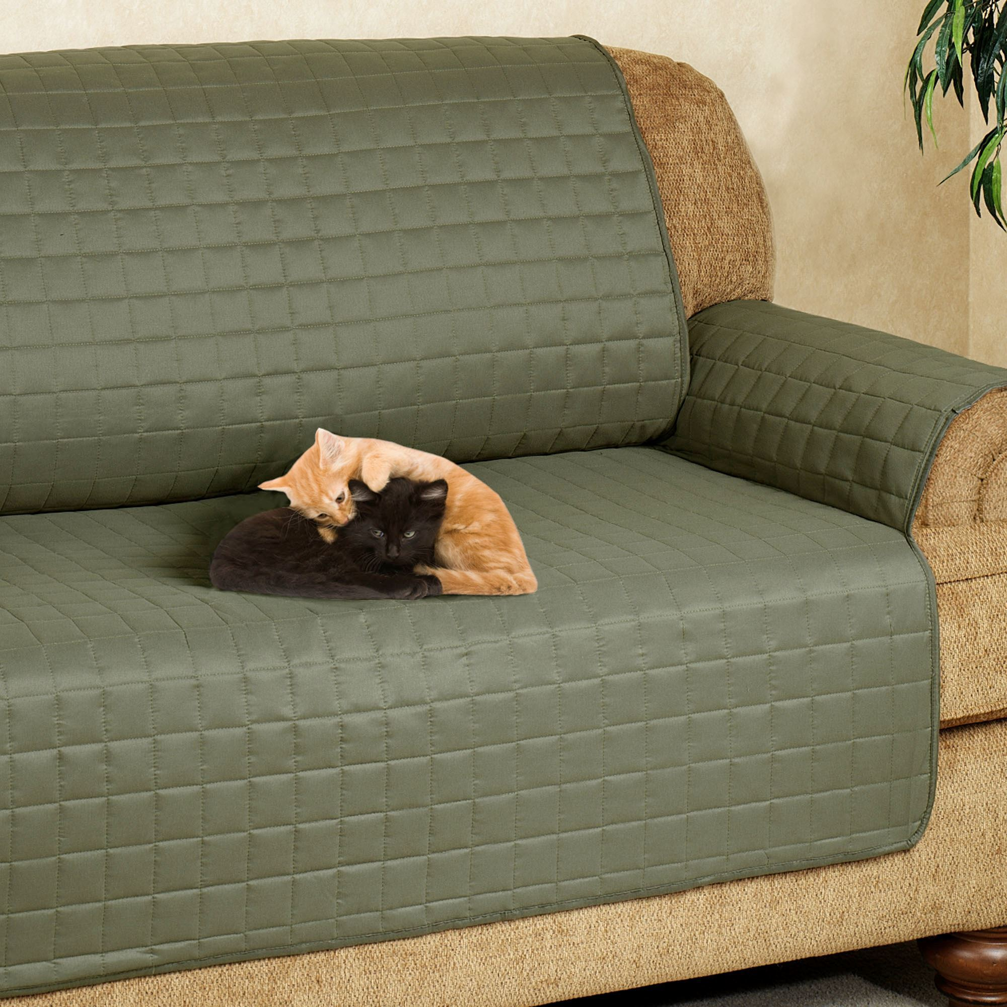 Microfiber Pet Furniture Covers With Tuck In Flaps ~ Sleeper Sofa Couch Covers