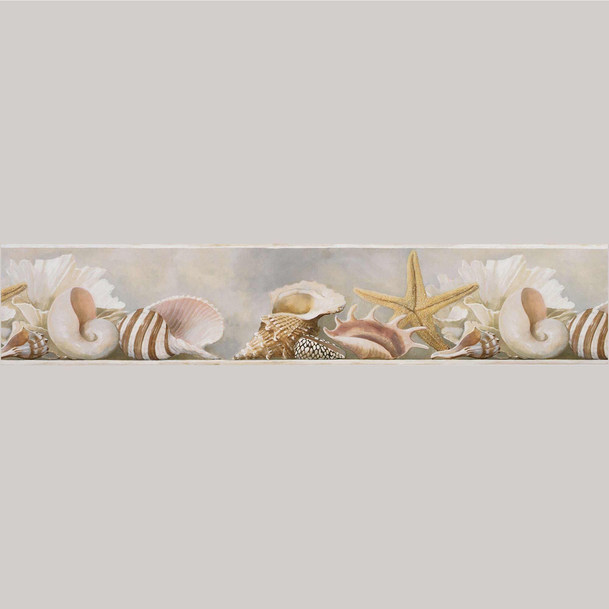 Coastal Shells Wallpaper Border