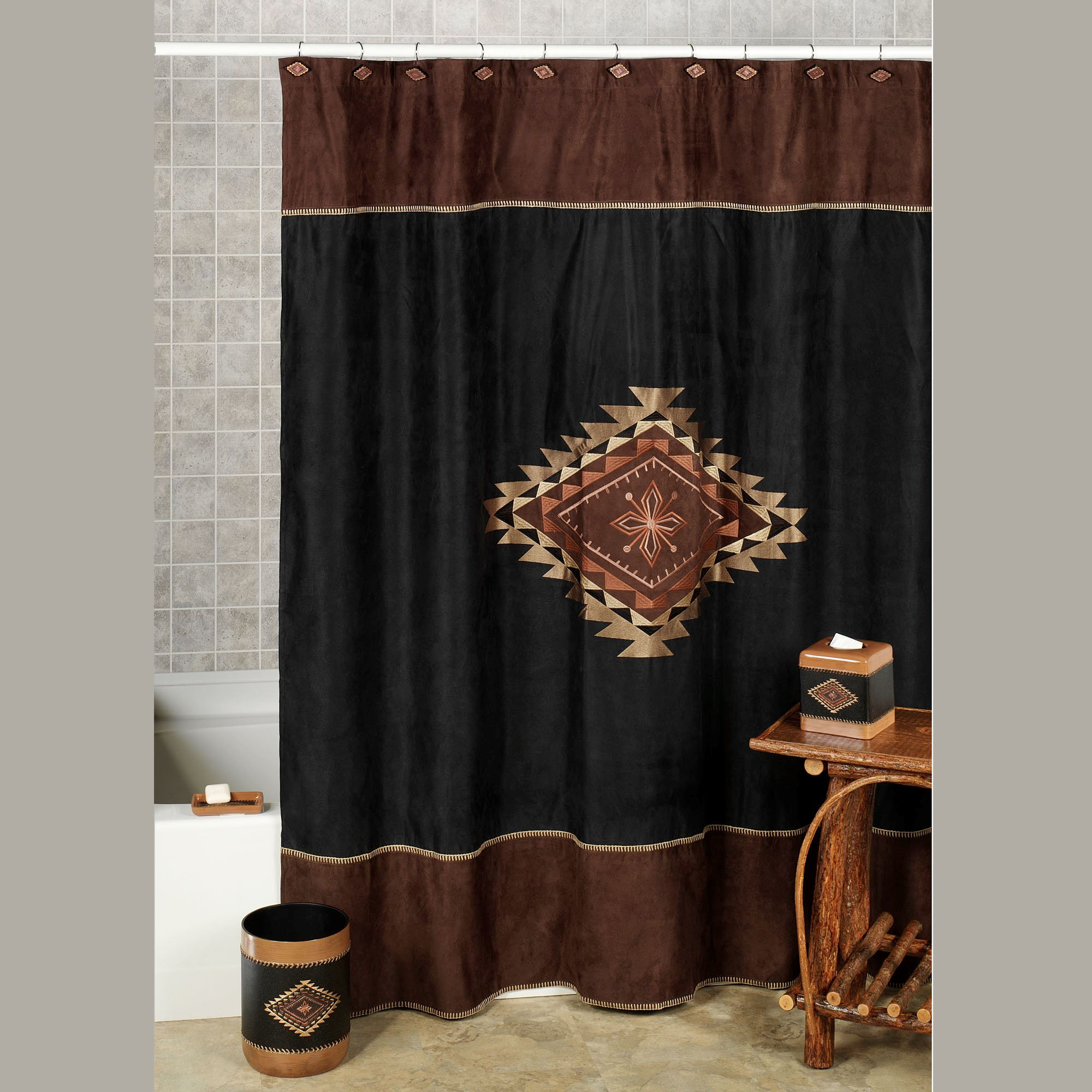 Colton Shower Curtain Multi Warm 72 X