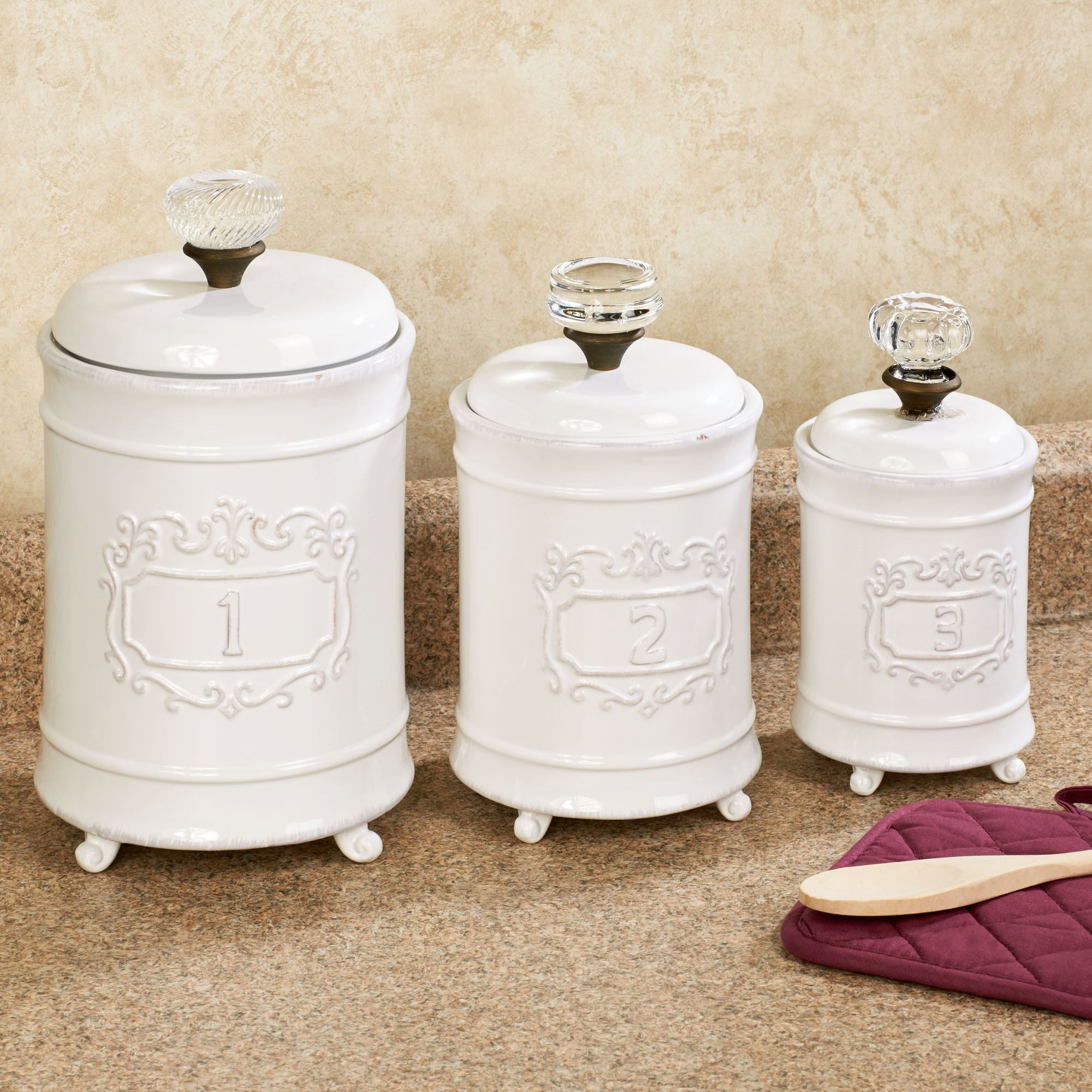 White Kitchen Canisters Uk
