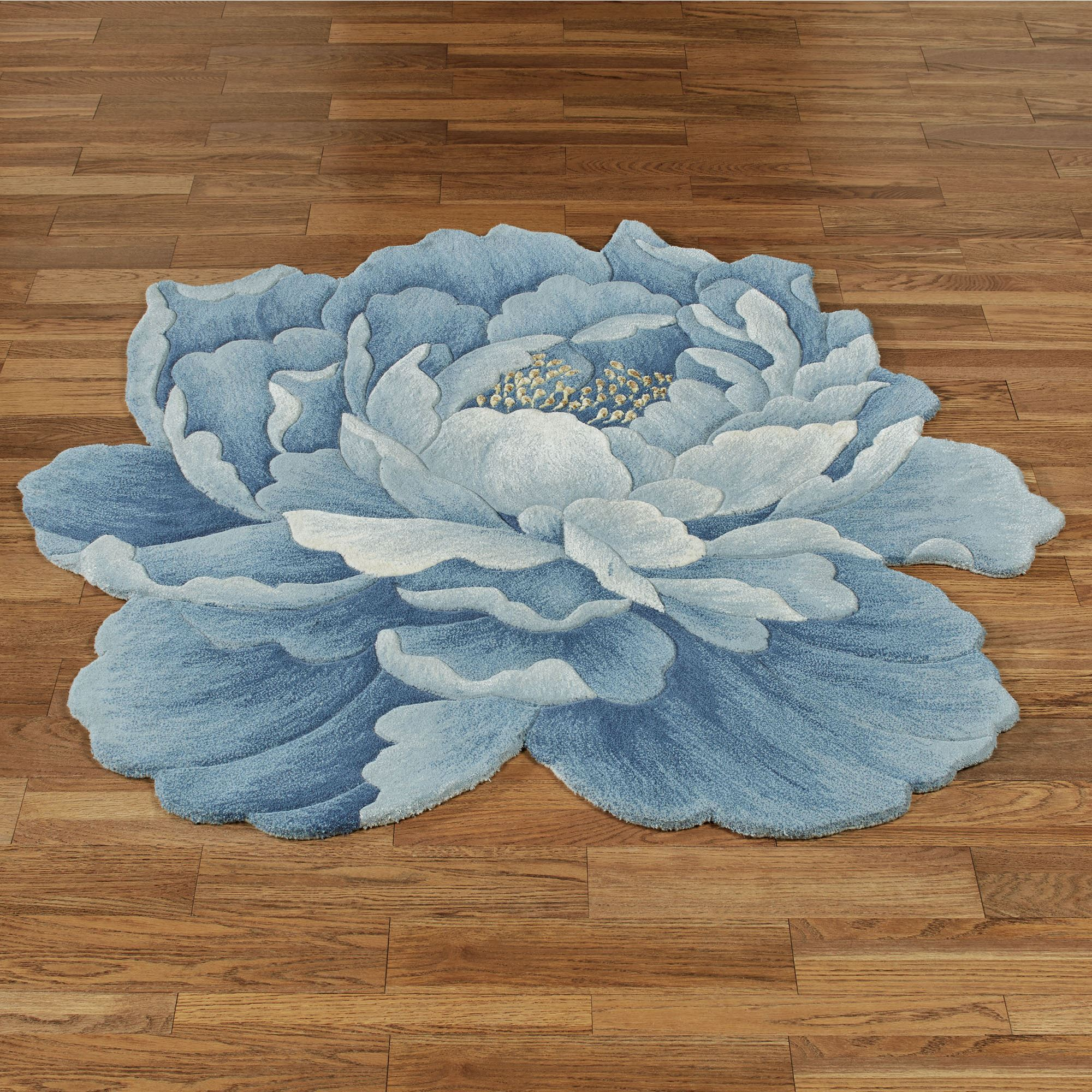 Purple Flower Shaped Rug Area Ideas