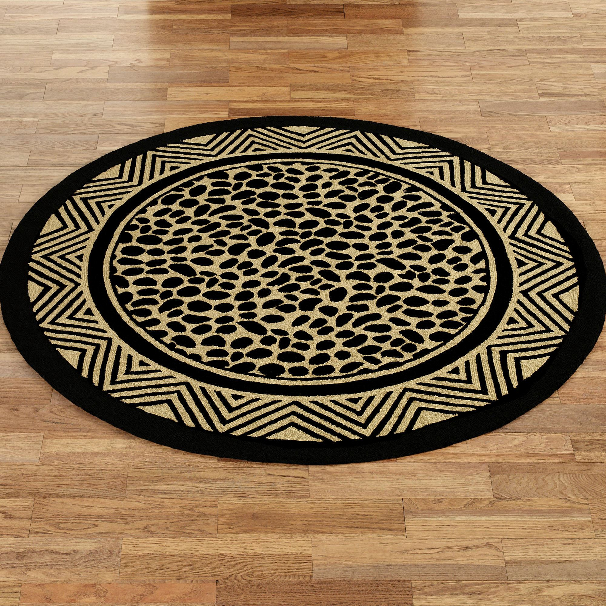 Animal Print Rugs Nz: Wild Leopard Print Hooked Round Rugs