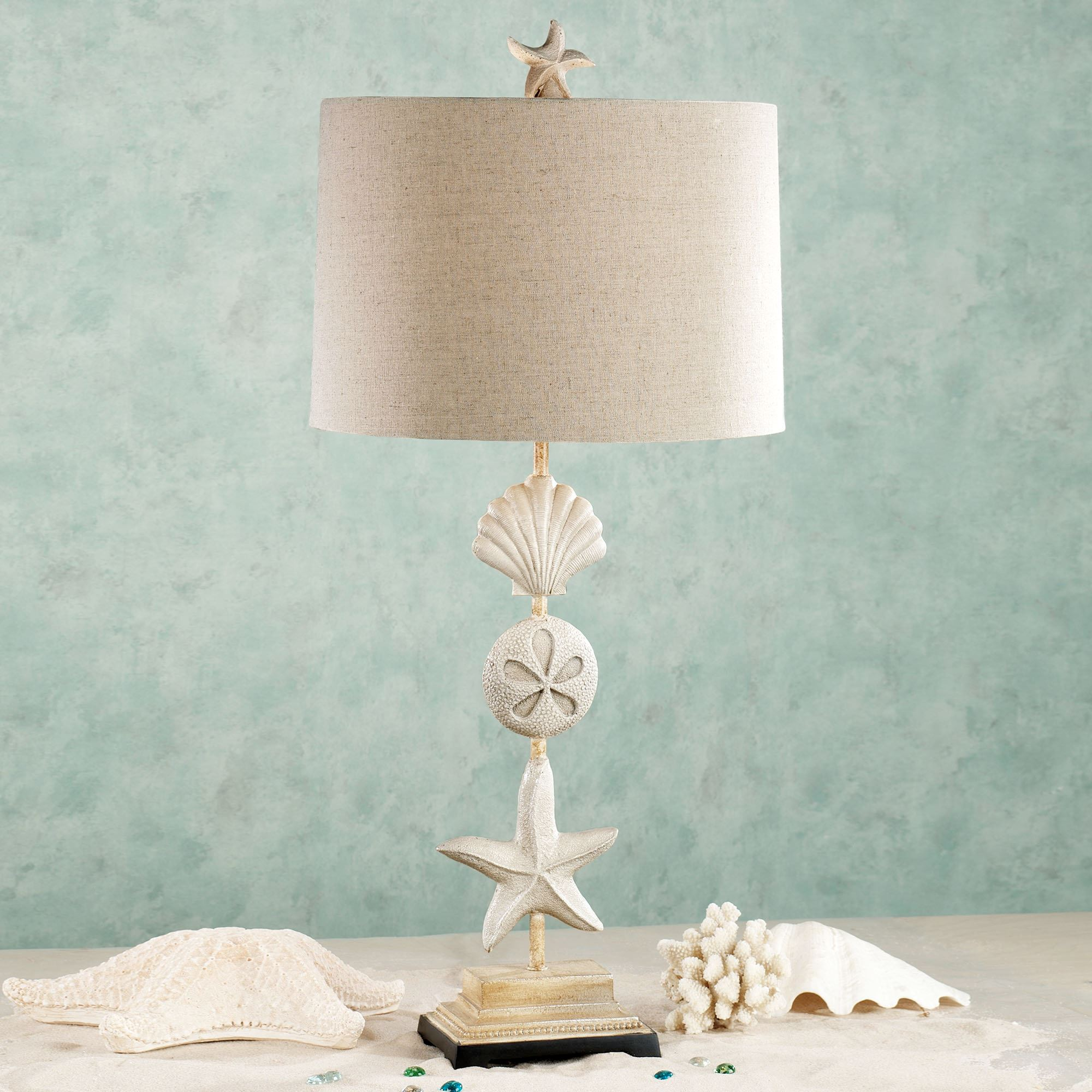 Cape Coral Table Lamp Sand Each With CFL Bulb. Click To Expand