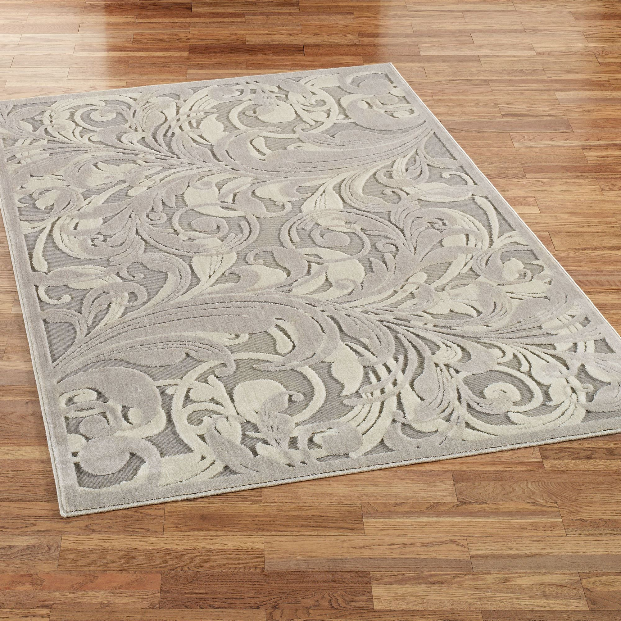 . tantalizing graphic scroll gray area rugs