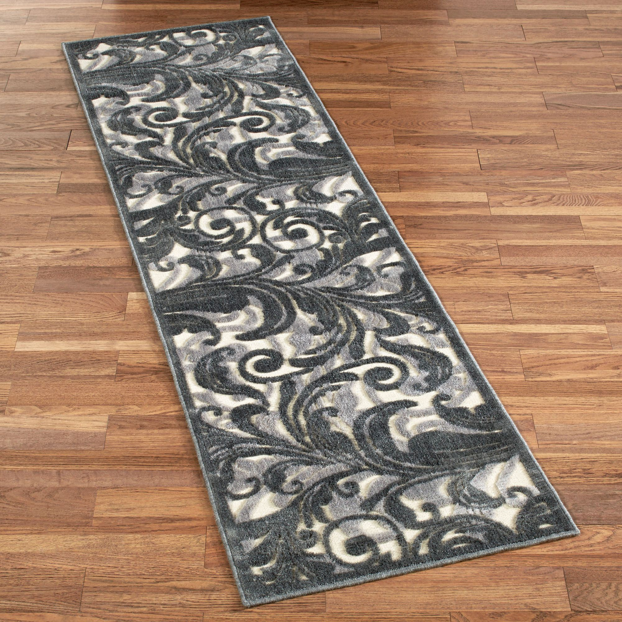 Tantalizing Graphic Ivory Runner Rug 23 X 8