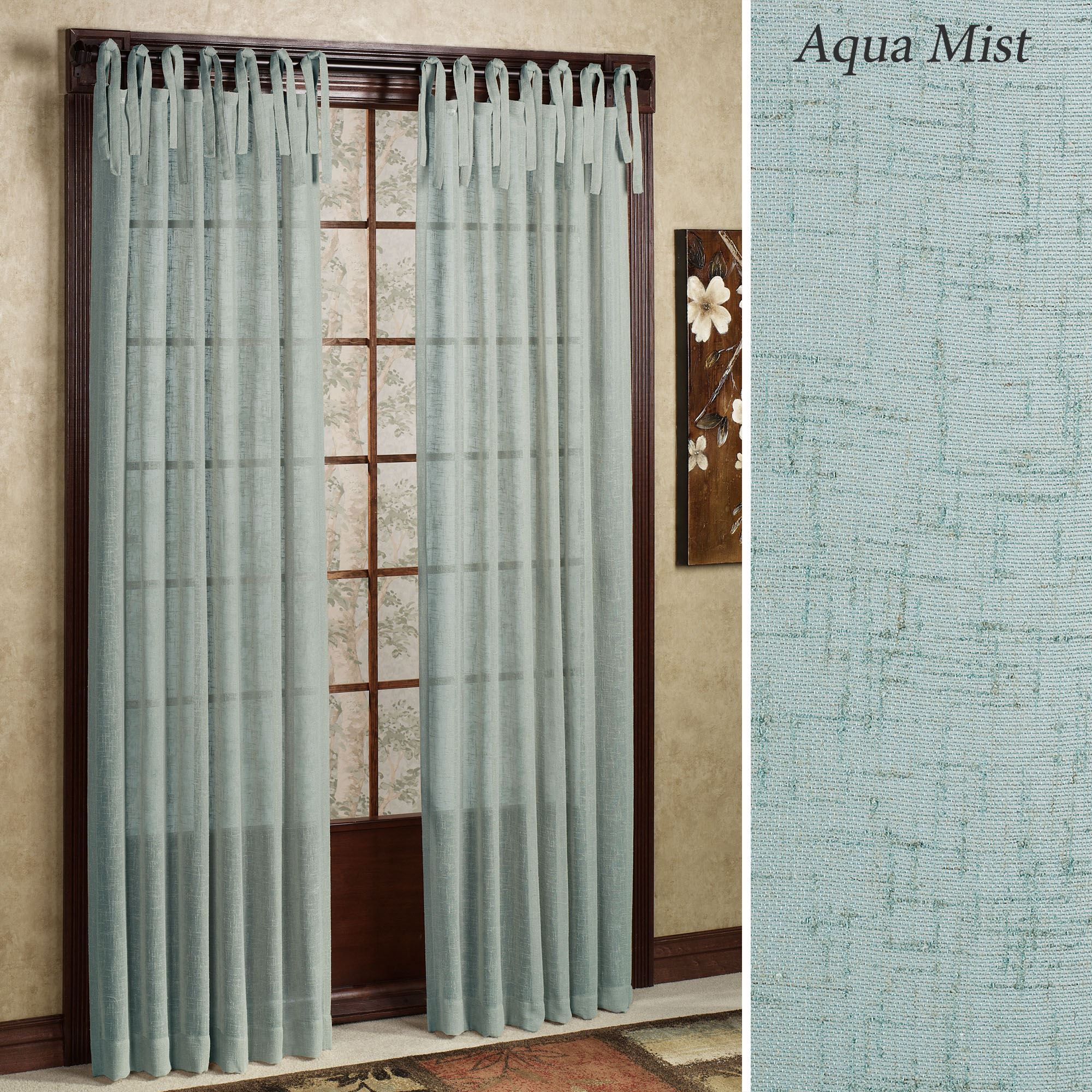 Danburry Tie Top Semi Sheer Curtains By Laura Ashley