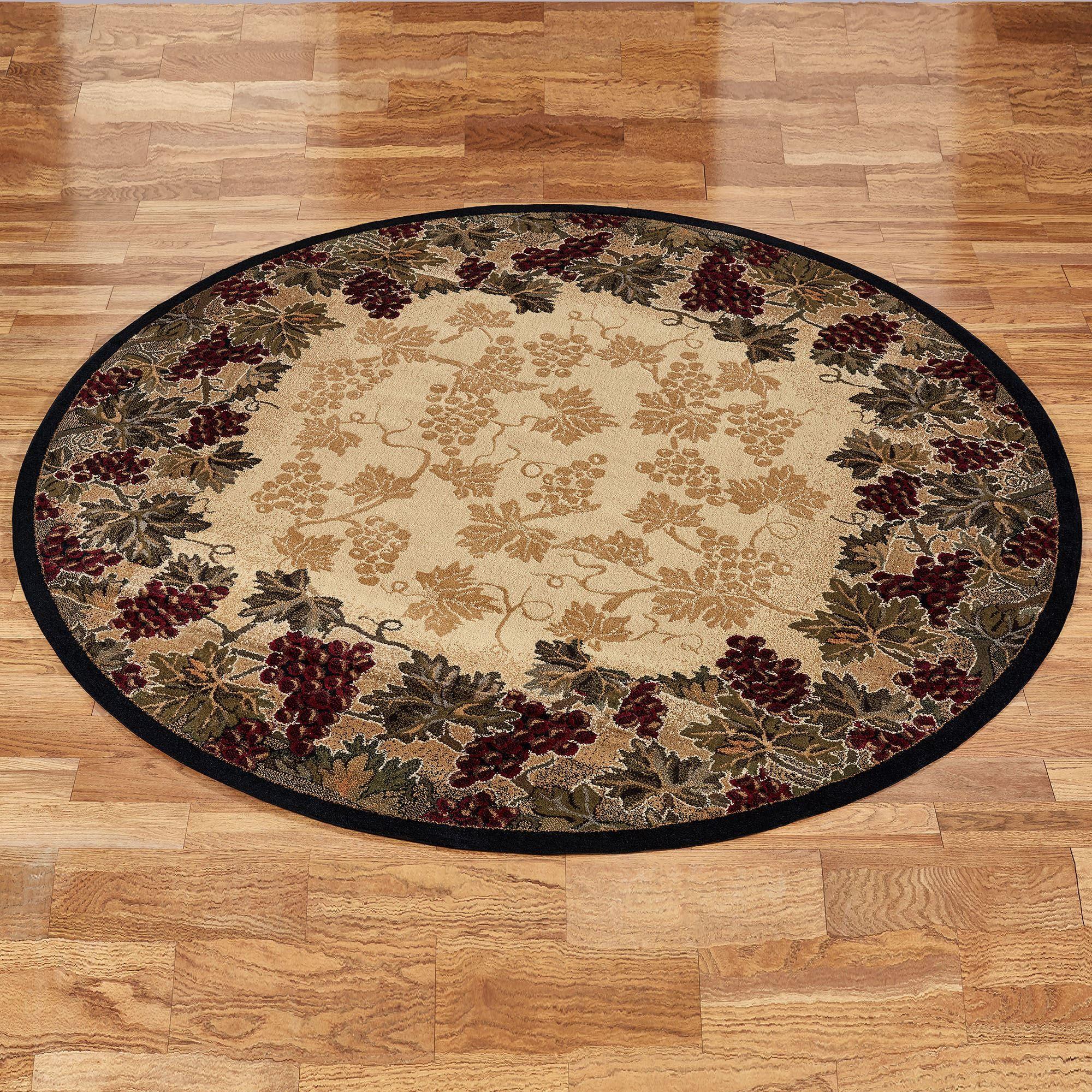 small grape design kitchen rugs. Beaujolais II Round Rug Beige 710 Grape Area Rugs