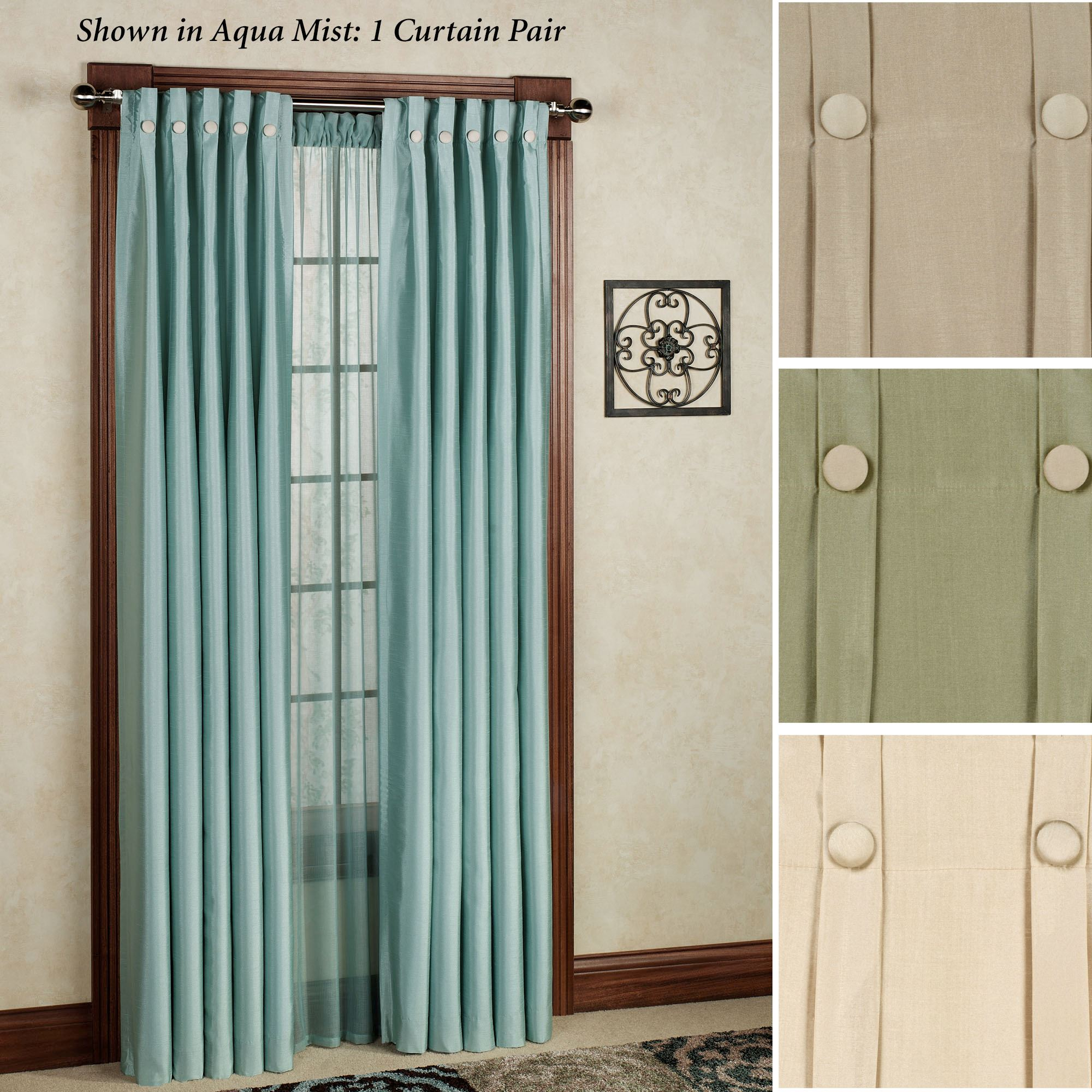 and pin with banding jabots lined s contrast shaped box valance cathy pleat