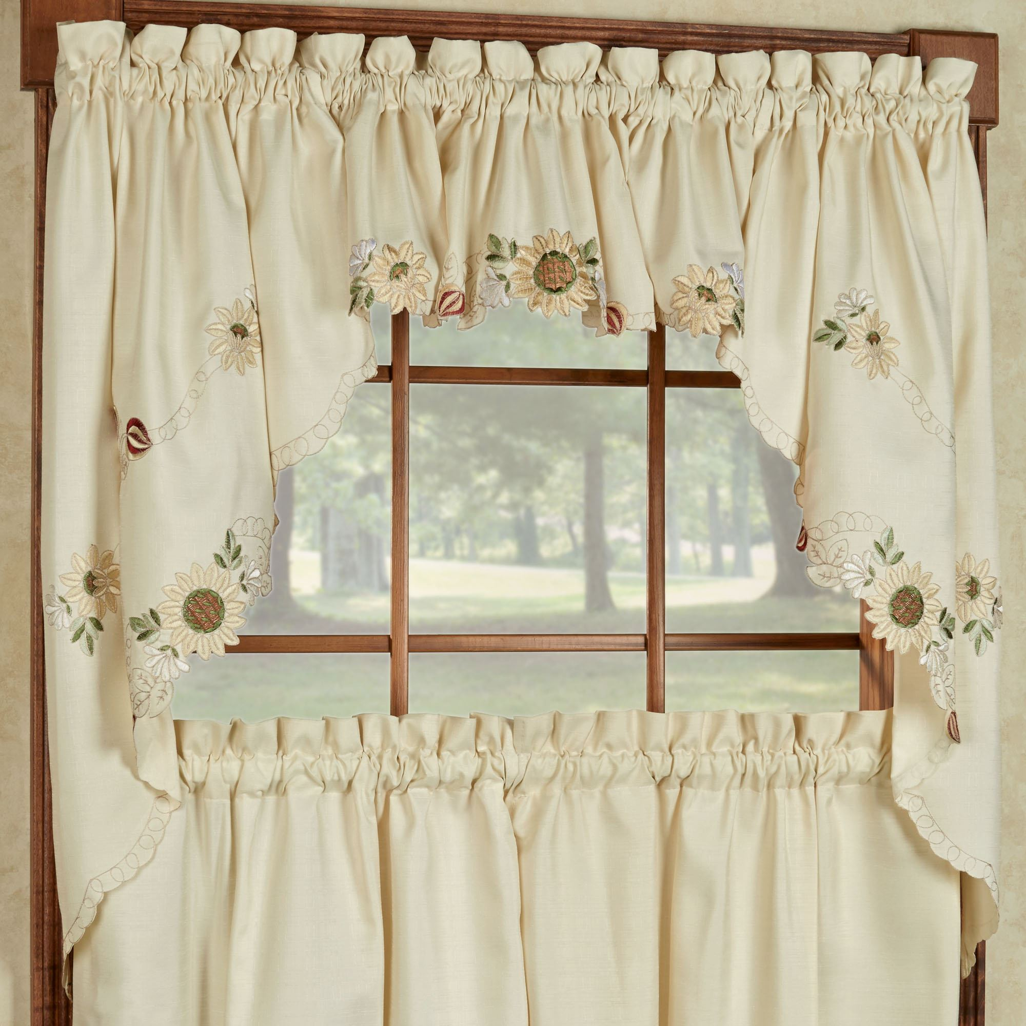 Sunflower Valance Kitchen Curtains Kitchen Sohor