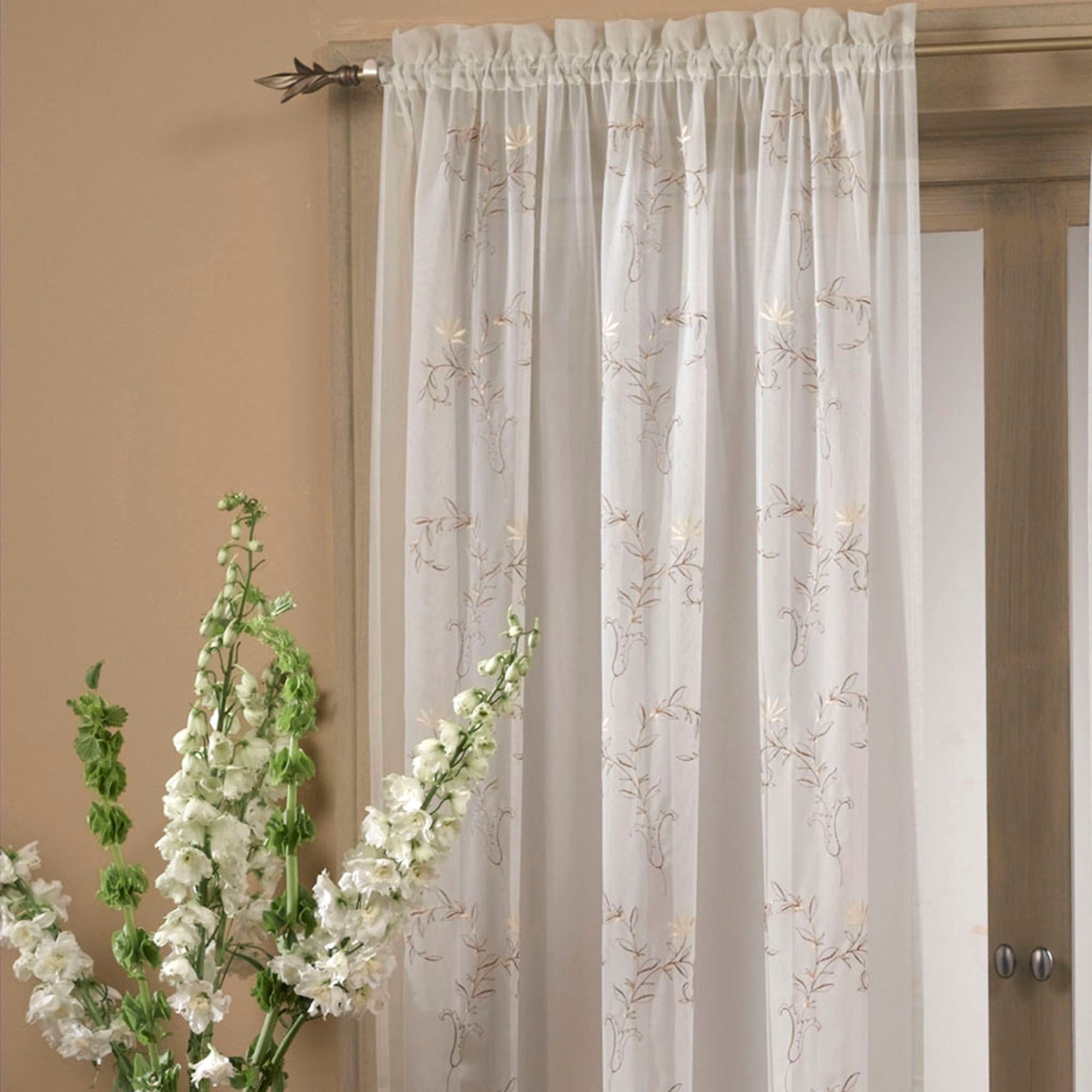 curtains rod curtain voile pocket panel smart window sheer pin insulated burnout