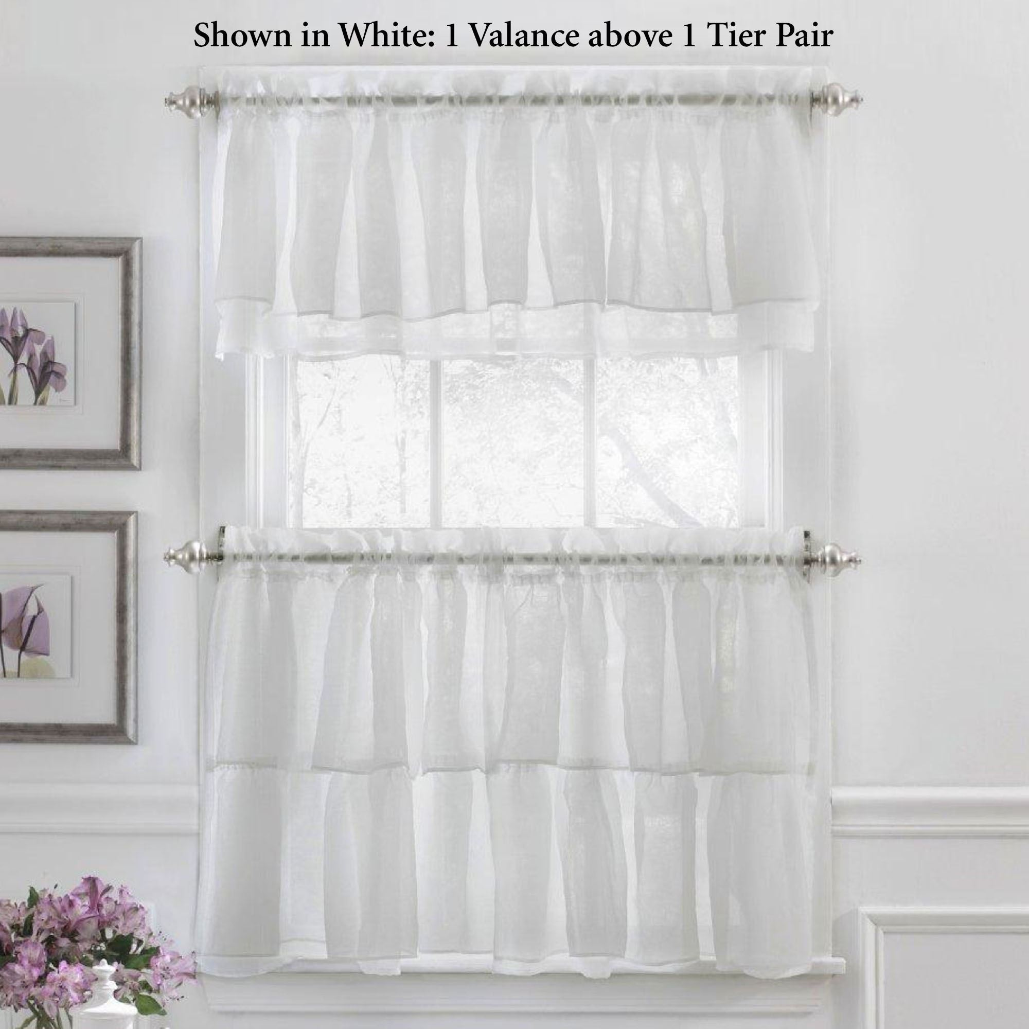 Gypsy Sheer Voile Ruffled Tier Window Treatment