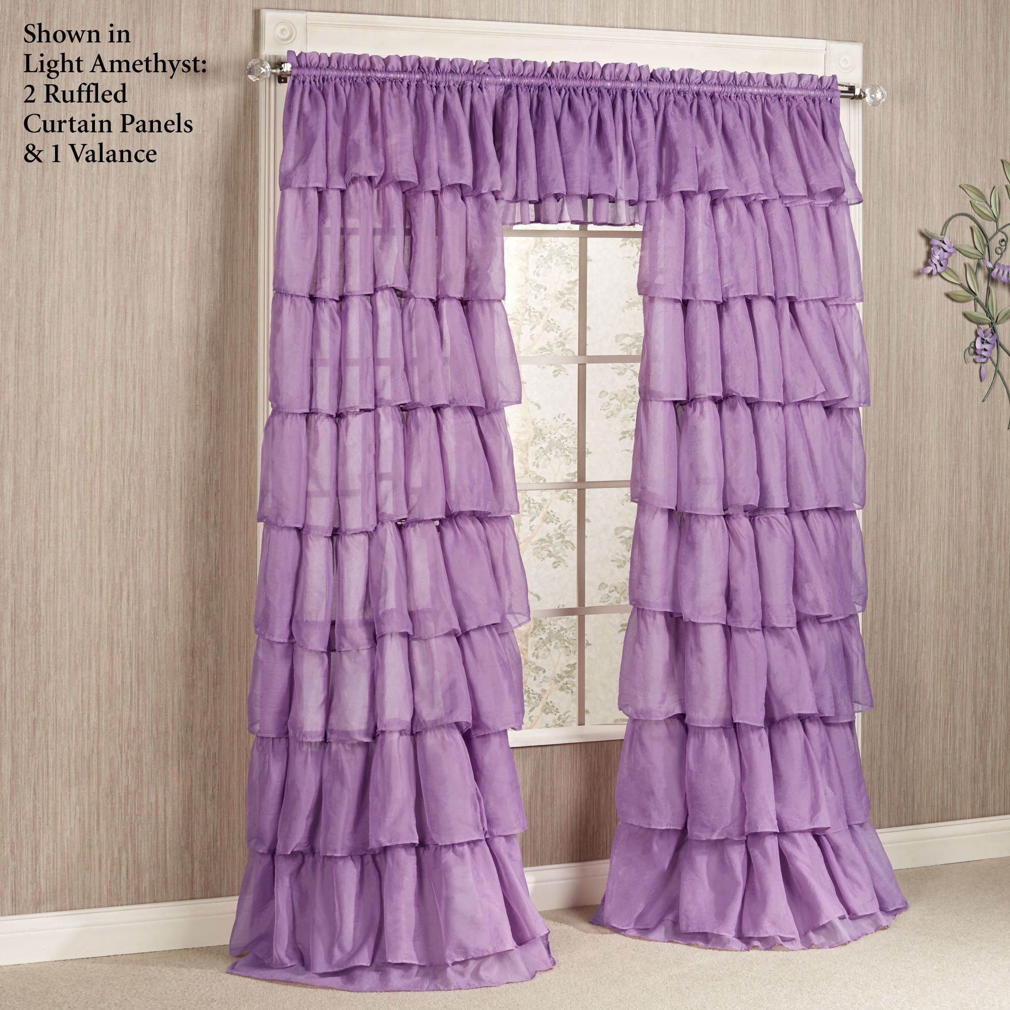 Gypsy Ruffled Curtain Panel