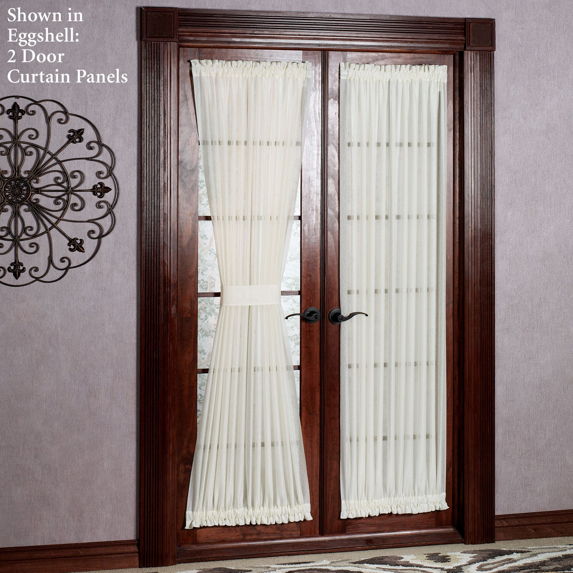 reverie semi sheer door panel touch to zoom - Door Panel Curtains