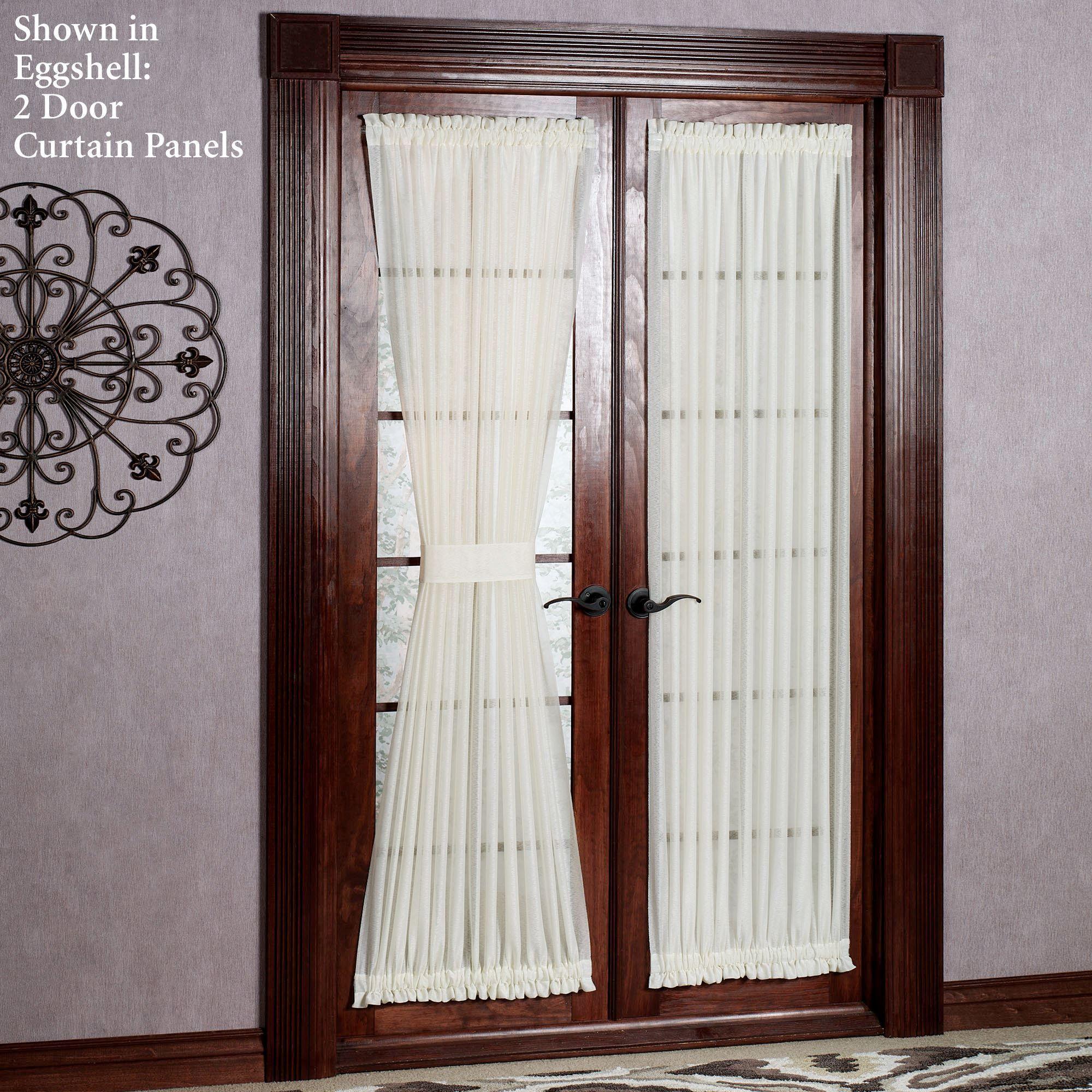 Reverie Snow Voile Semi Sheer Door Panels