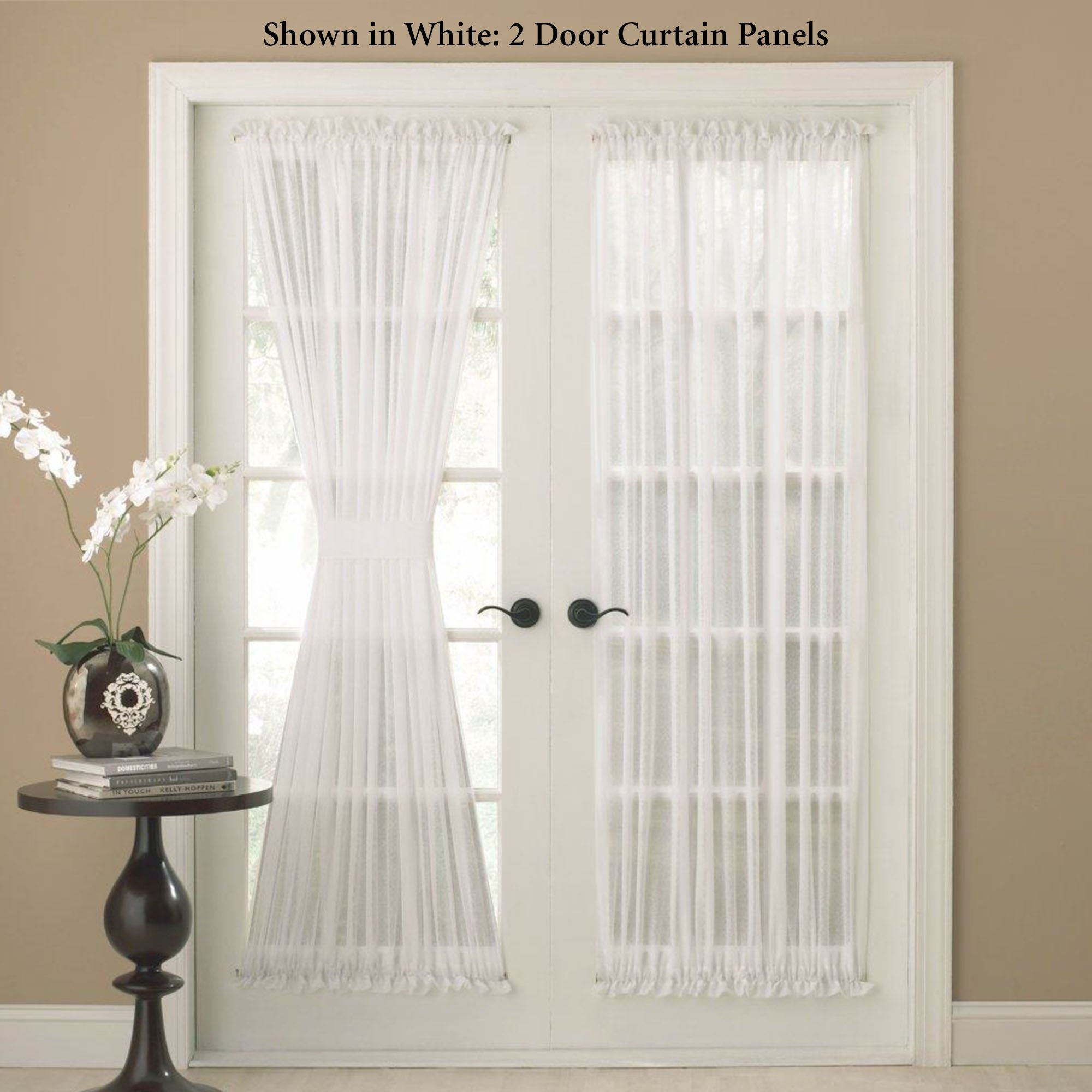 Reverie Semi Sheer Door Panel & Reverie Snow Voile Semi Sheer Door Panels