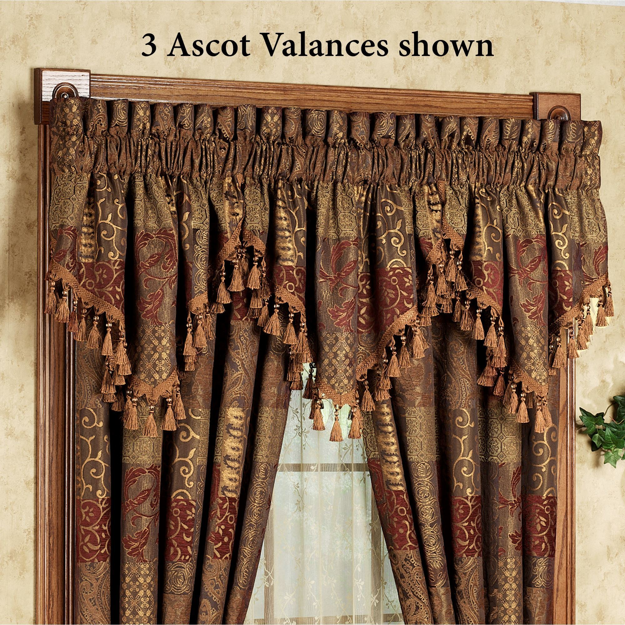 Galleria Ascot Valance Spice 40 X 21