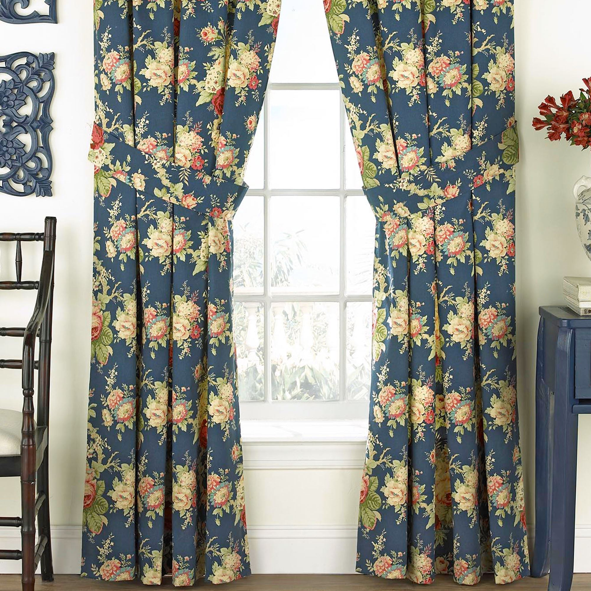 overstock orders on product denim brooke drapes shipping panel over free garden window curtain home elrene blackout