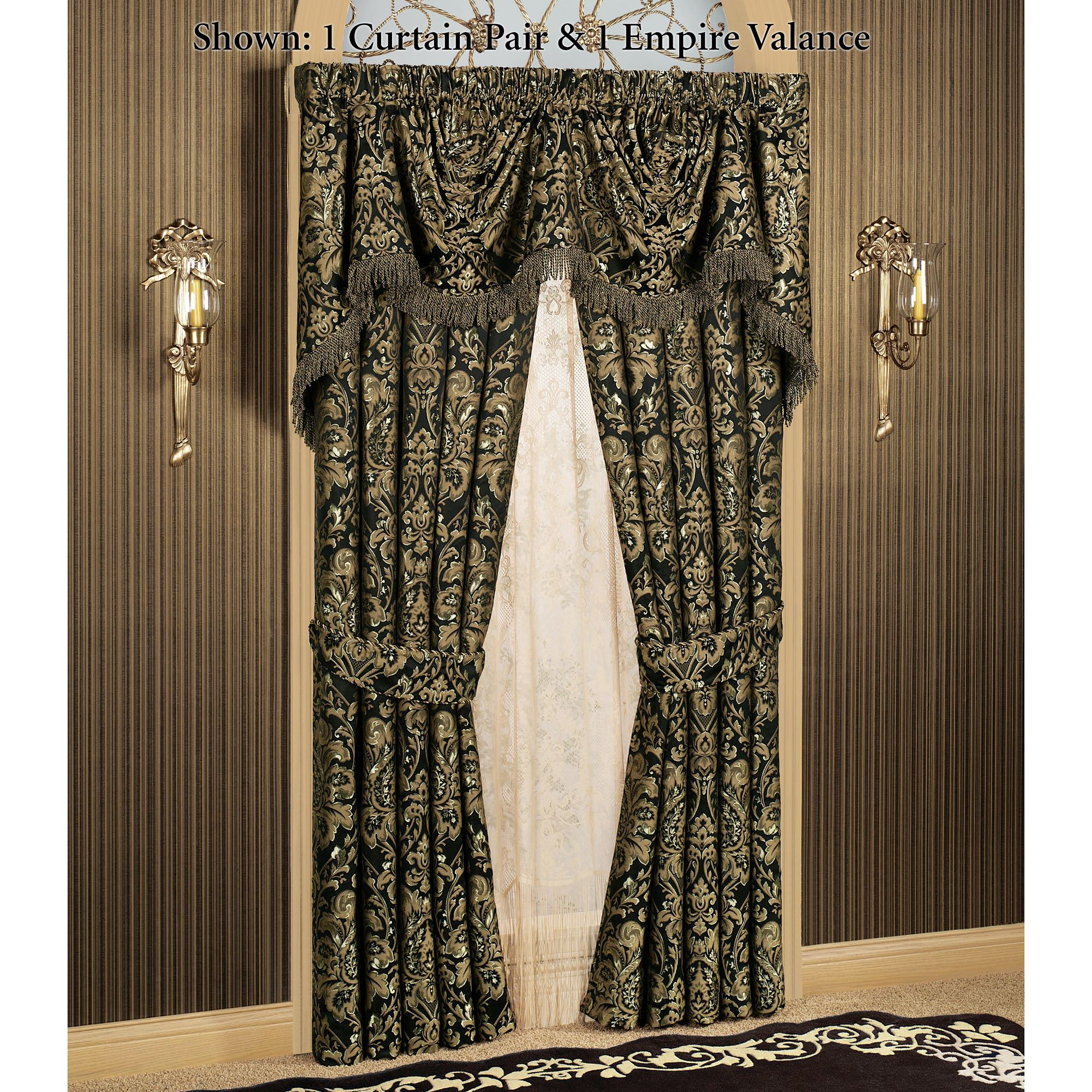 Imperial Damask Empire Valances And Curtains