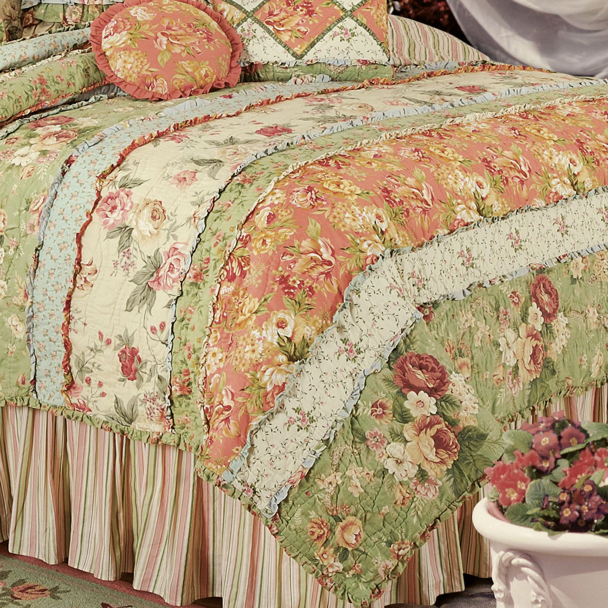Garden Dream All Cotton Quilt Bedding : cotton for quilting - Adamdwight.com