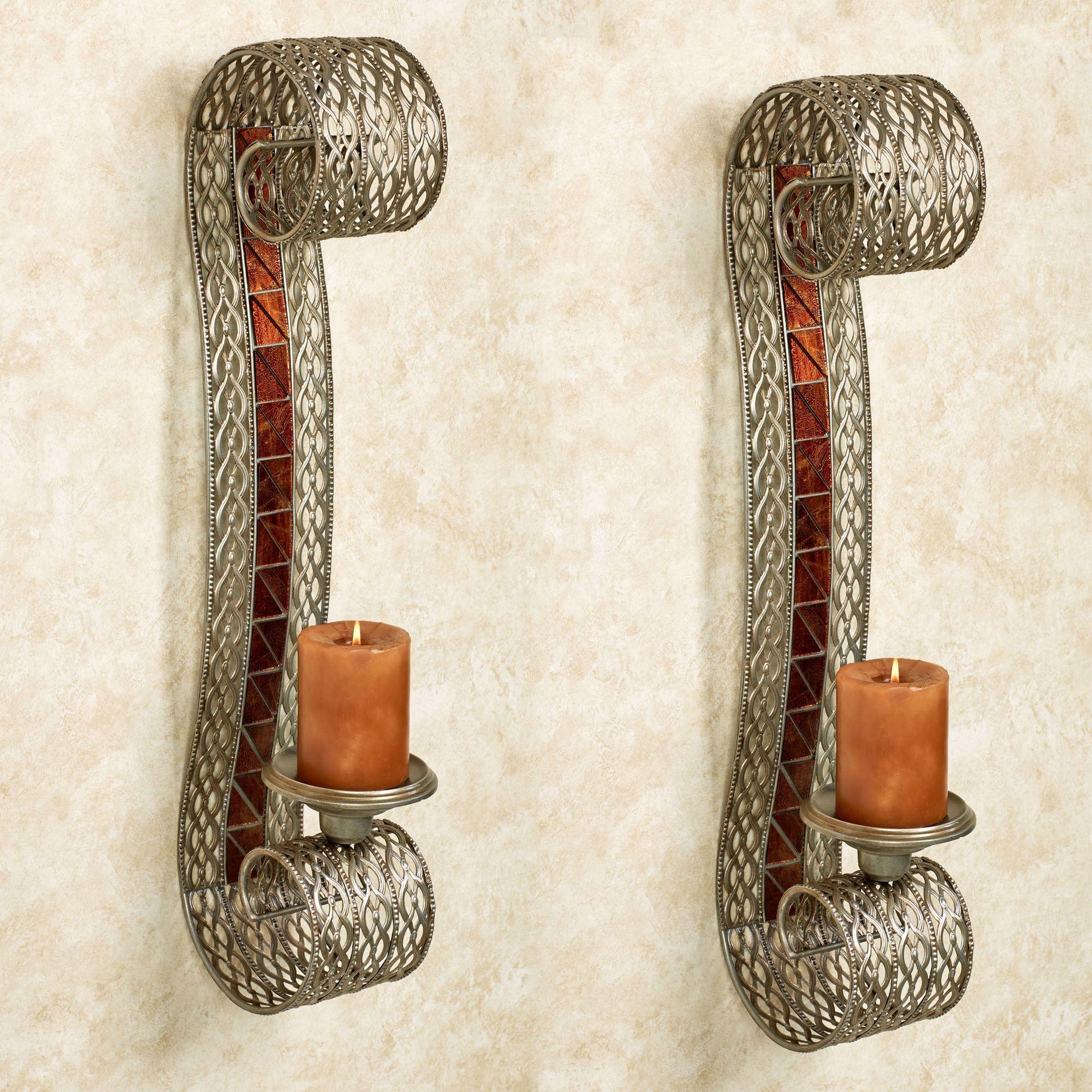 Davidson Metal Wall Sconce Pair