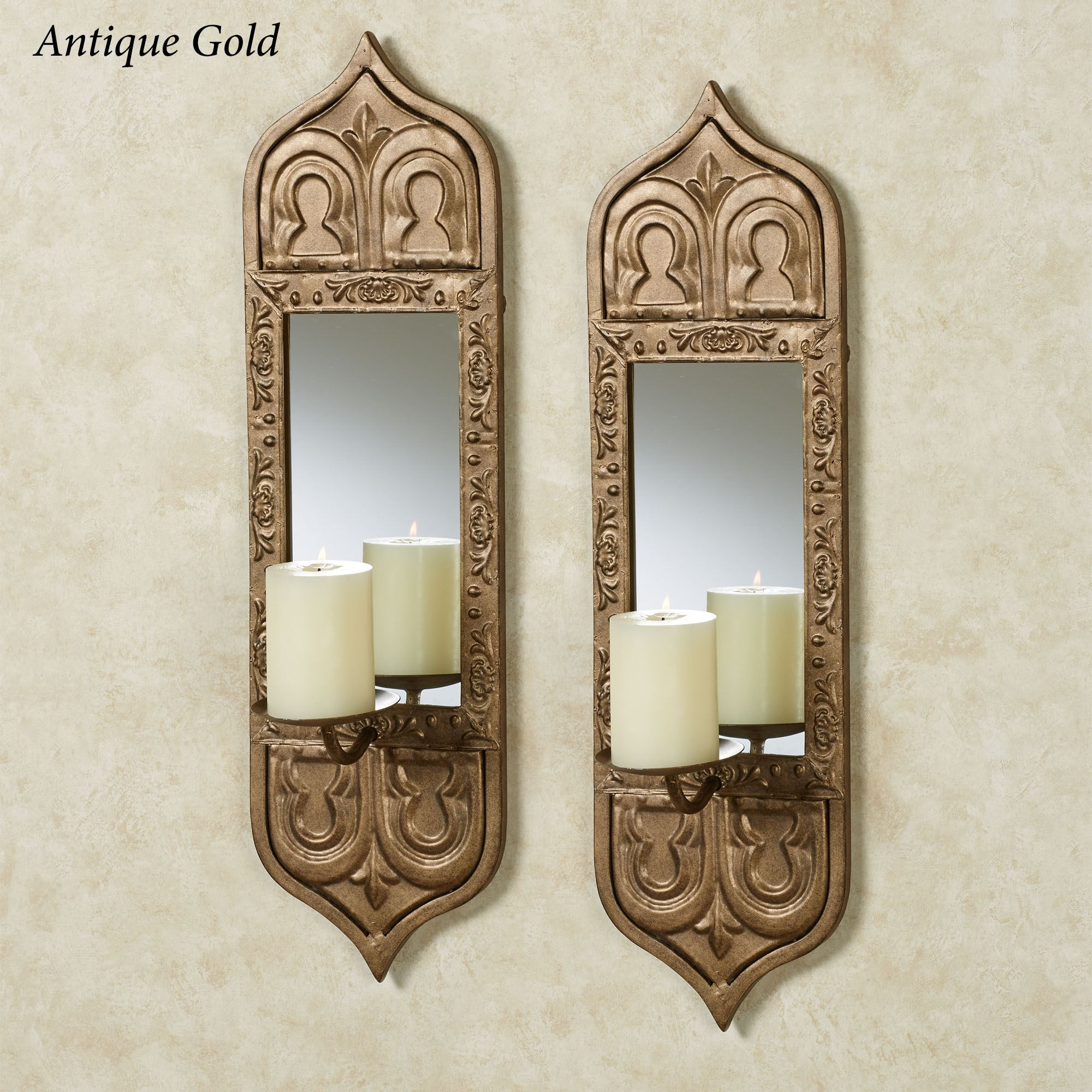 sconces qca galleries set foxglove french of mirrored sconce antiques