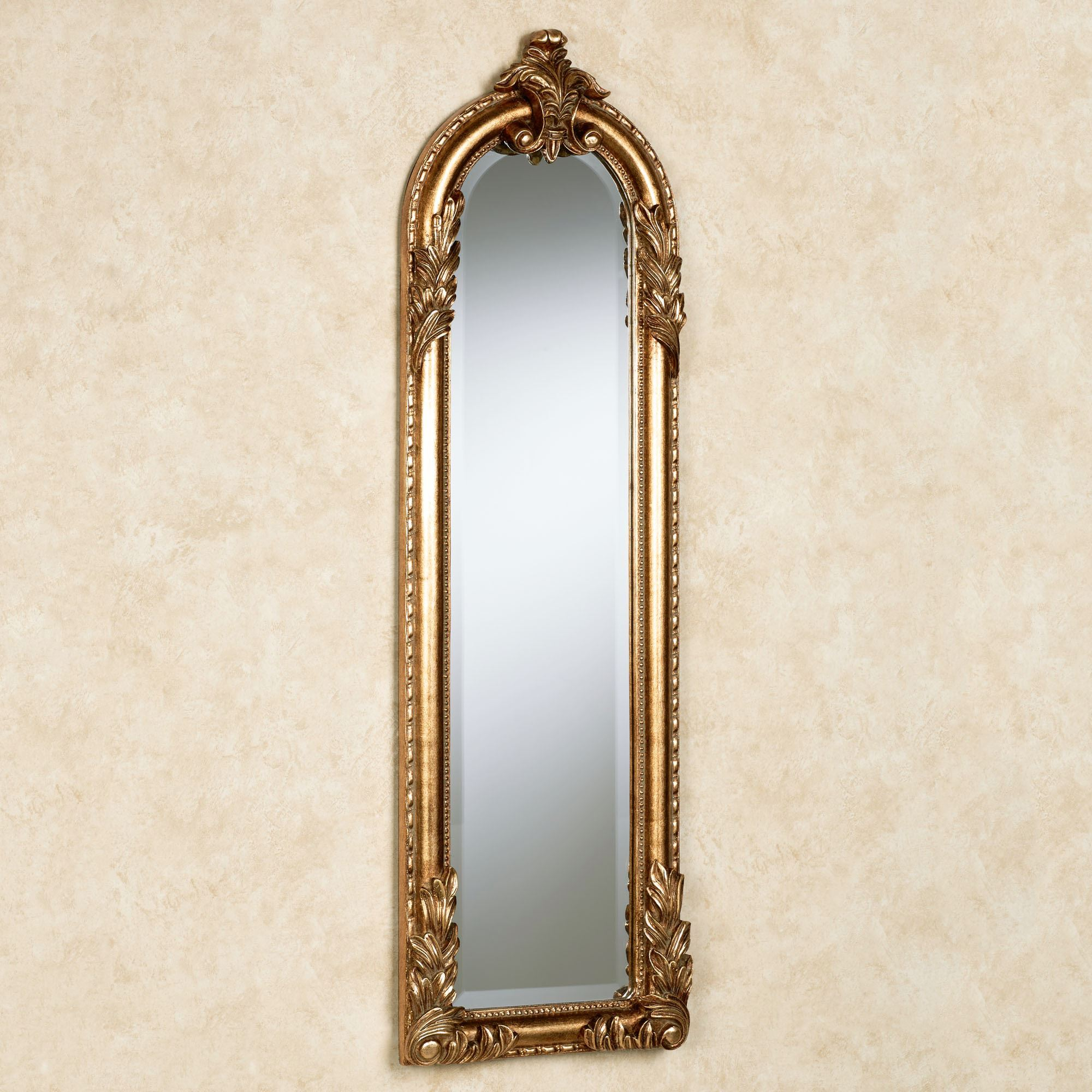 Royal Acanthus Gold Arched Wall Mirror