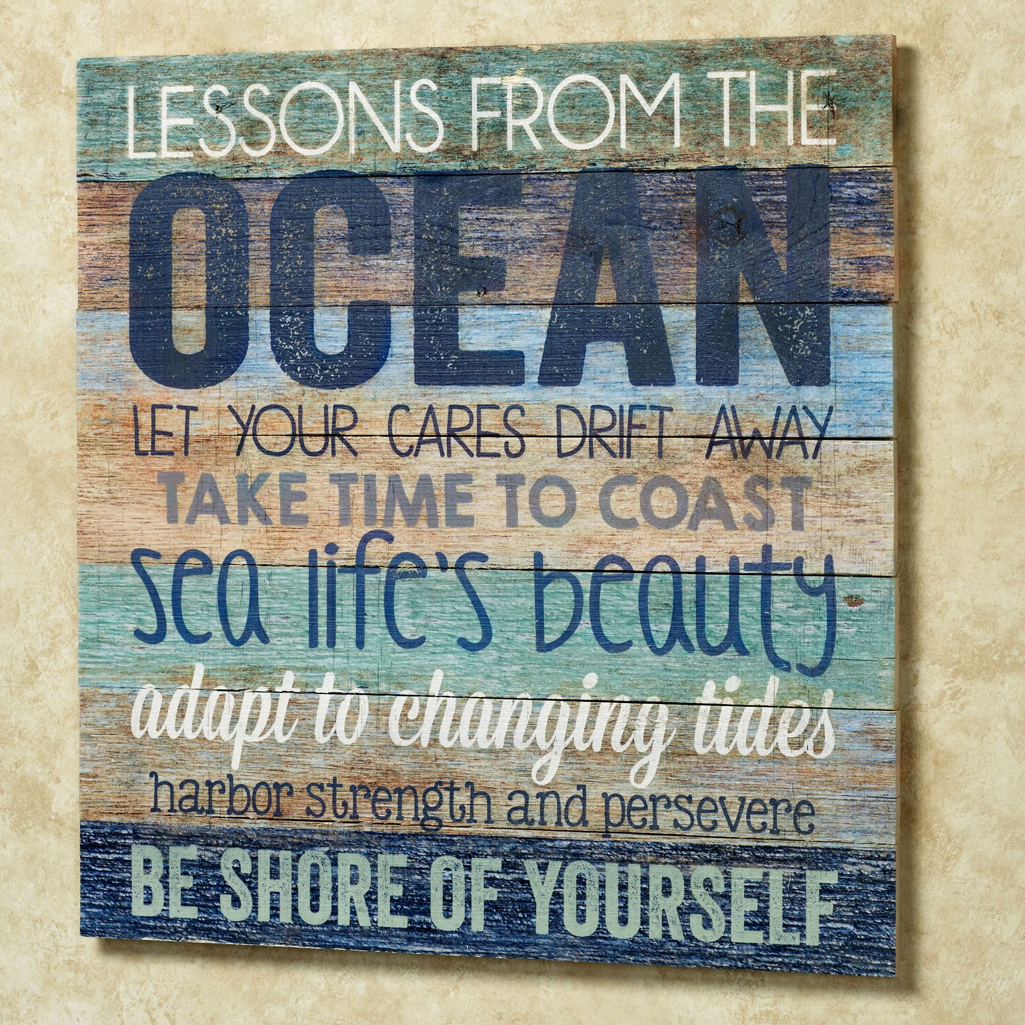 Oceans Wisdom Wood Wall Art Plaque