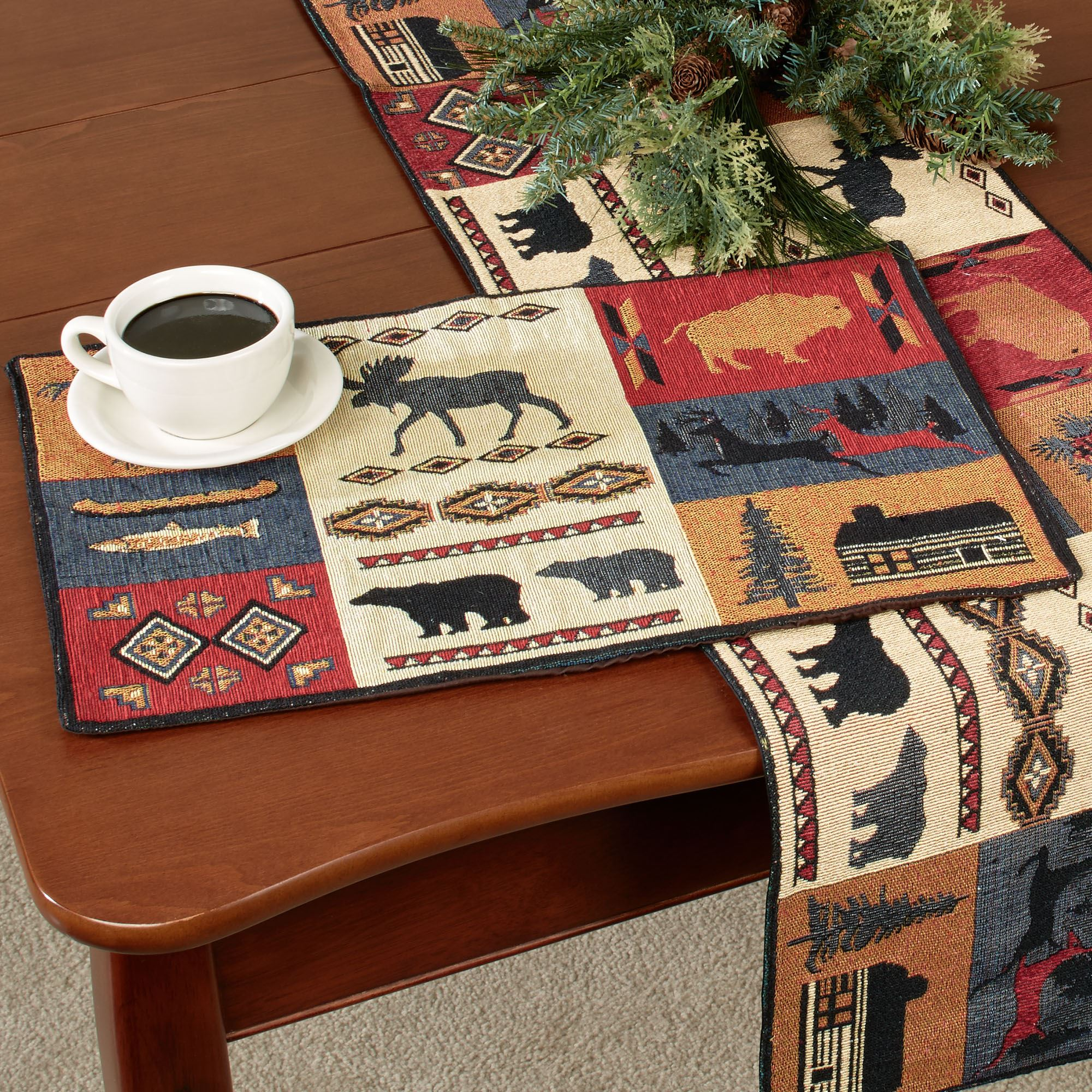 Rustic Lodge Table Linens