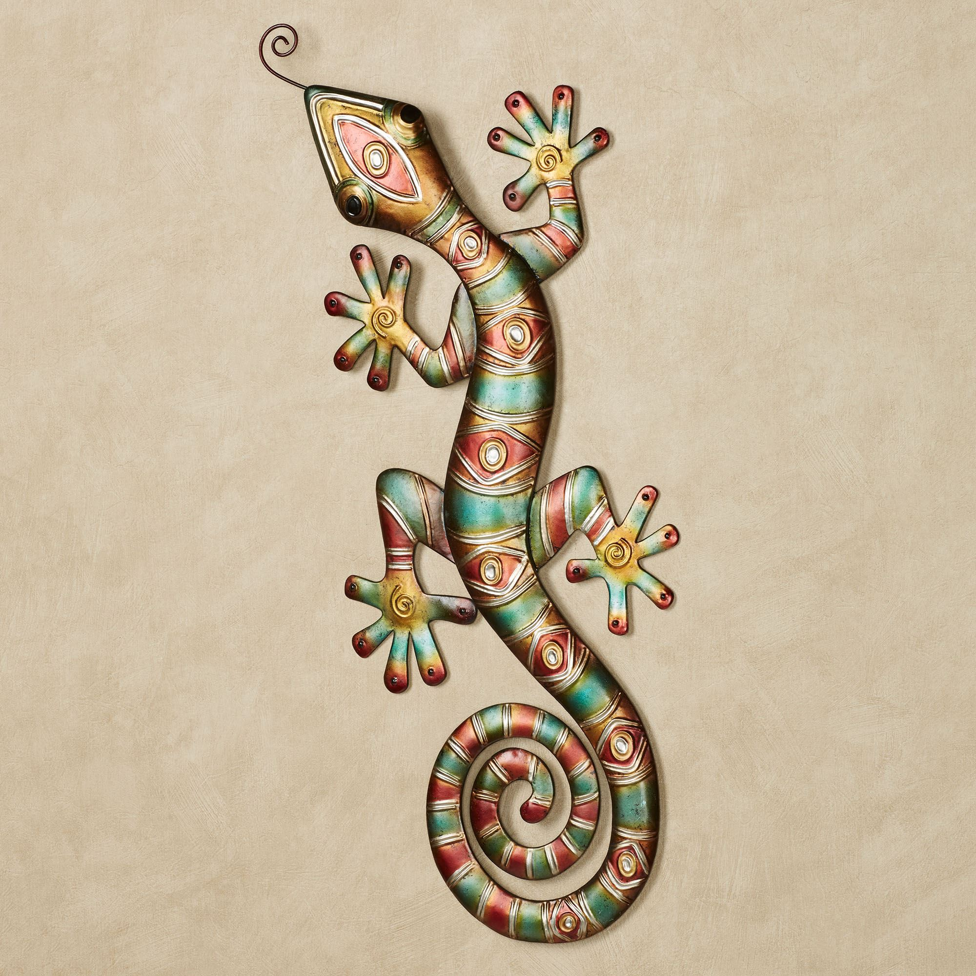 Southwest Gecko Metal Wall Art