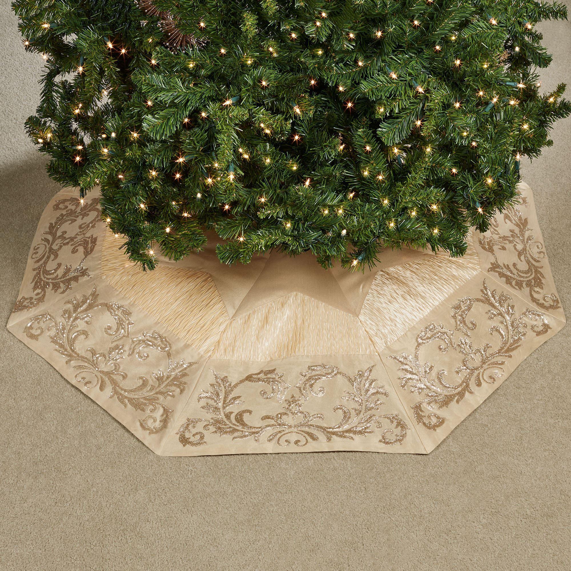 Touch Of Gold Christmas Tree Skirt By Kurt Adler