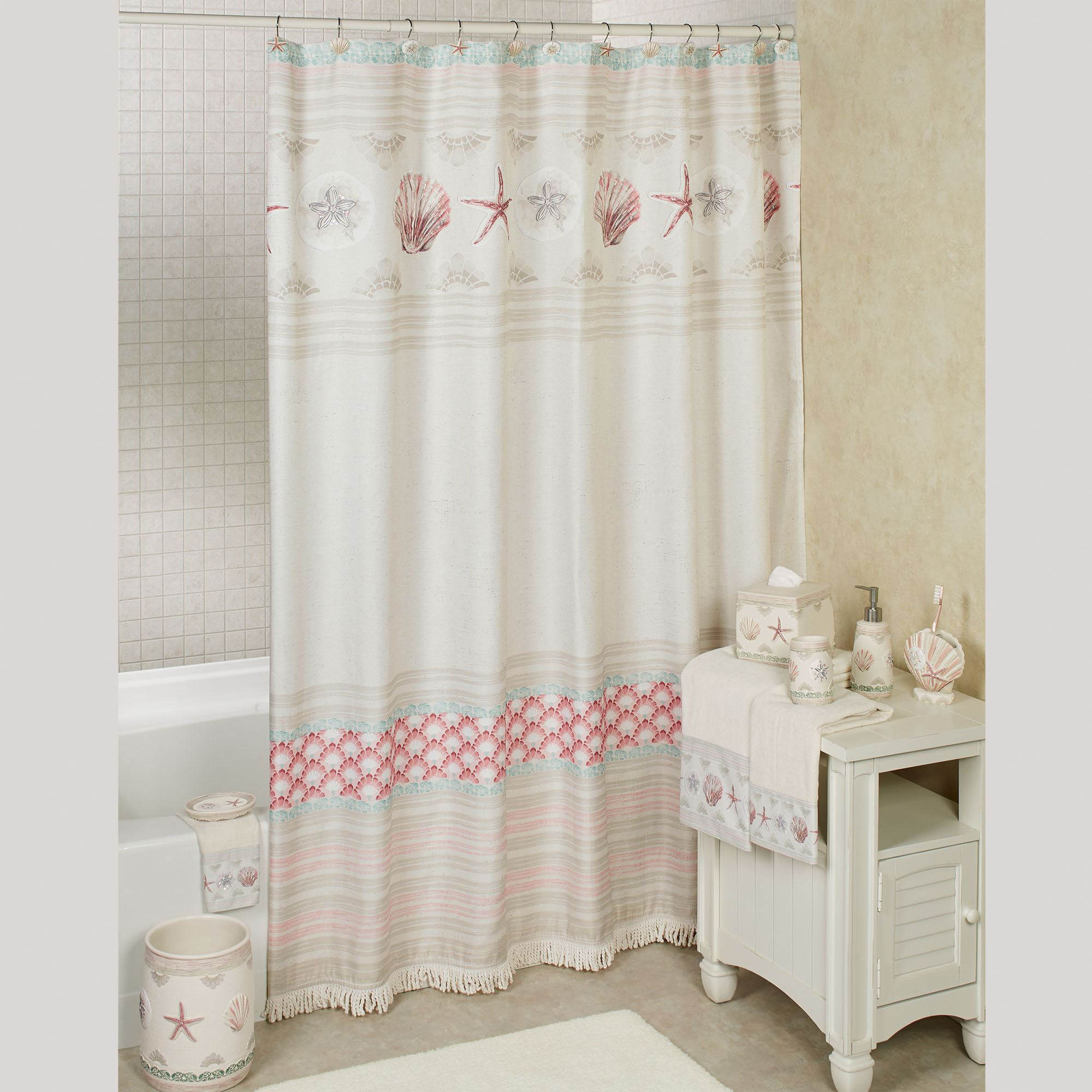 Coronado Shower Curtain Multi Warm 72 X