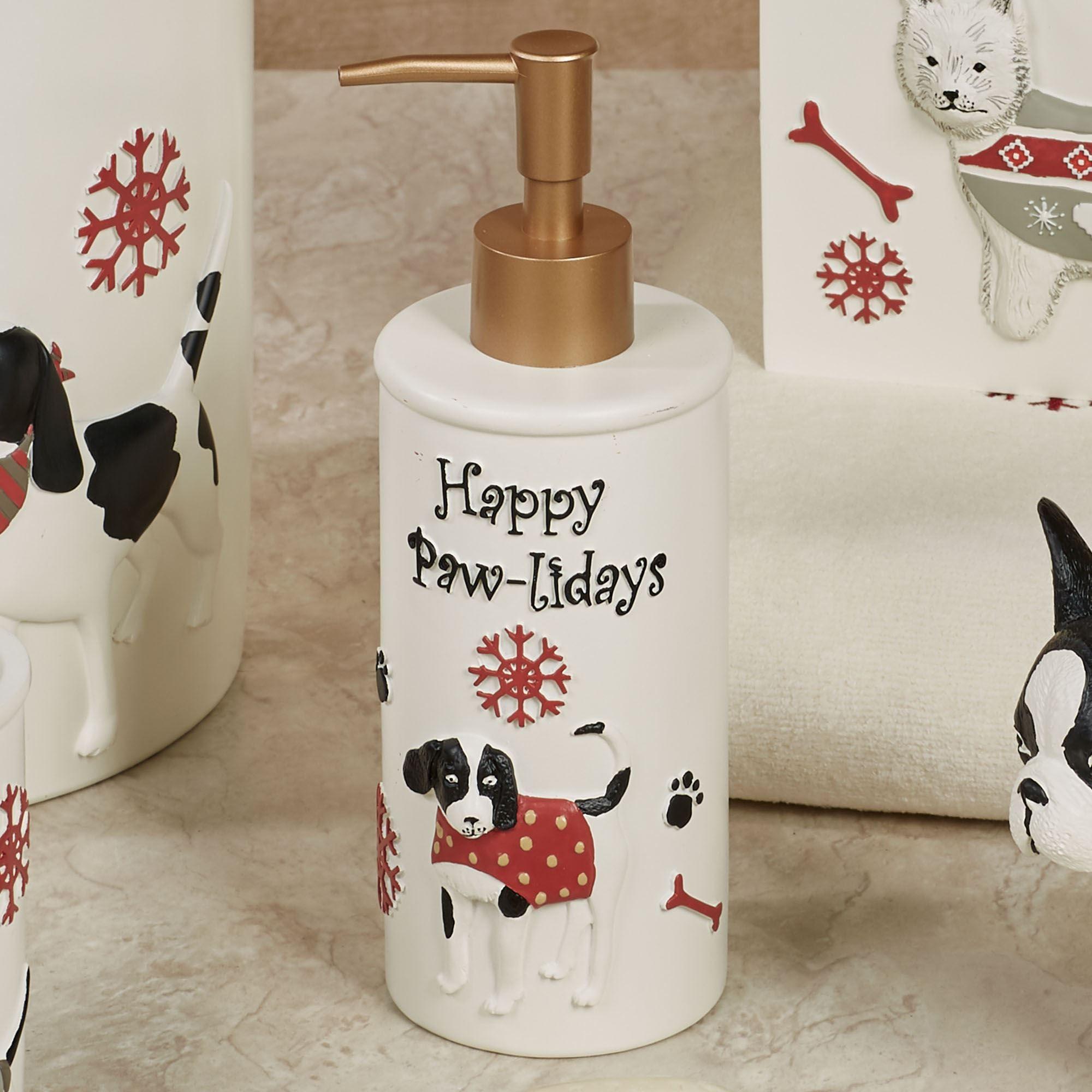 Hy Pawlidays Lotion Soap Dispenser Ivory