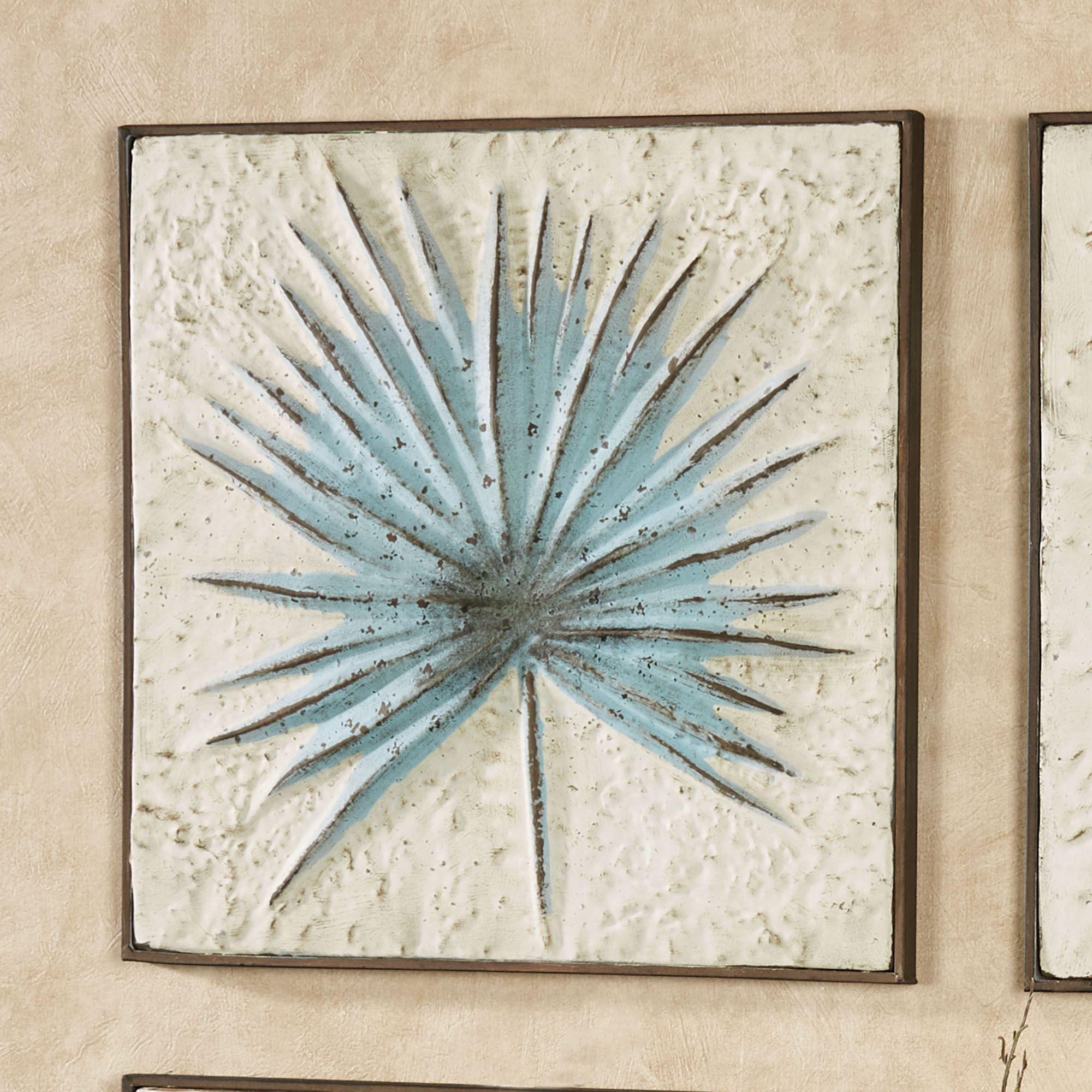 Tropical Leaf Impression Indoor Outdoor Metal Wall Art