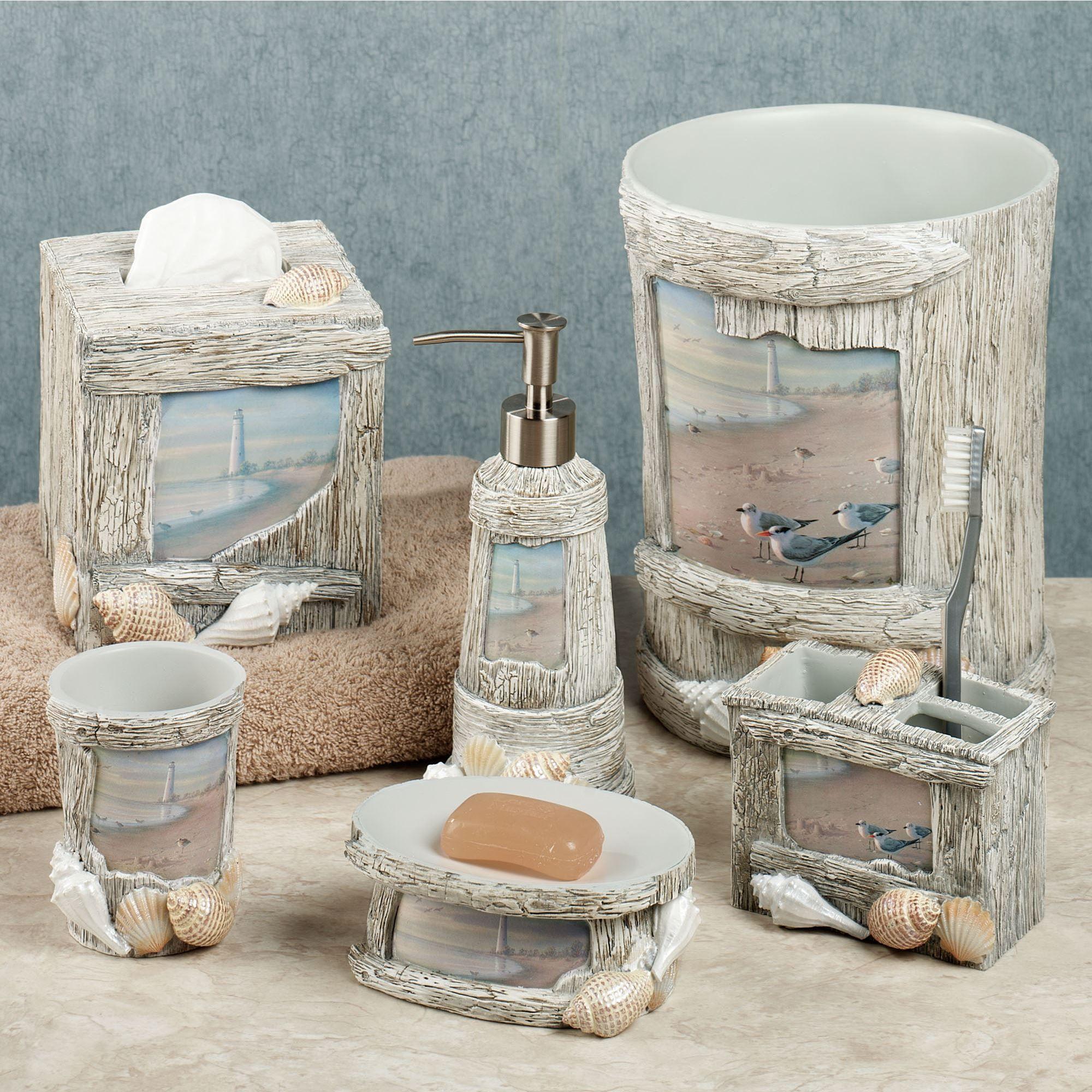 At The Beach Bath Accessories, Beach Bathroom Accessories