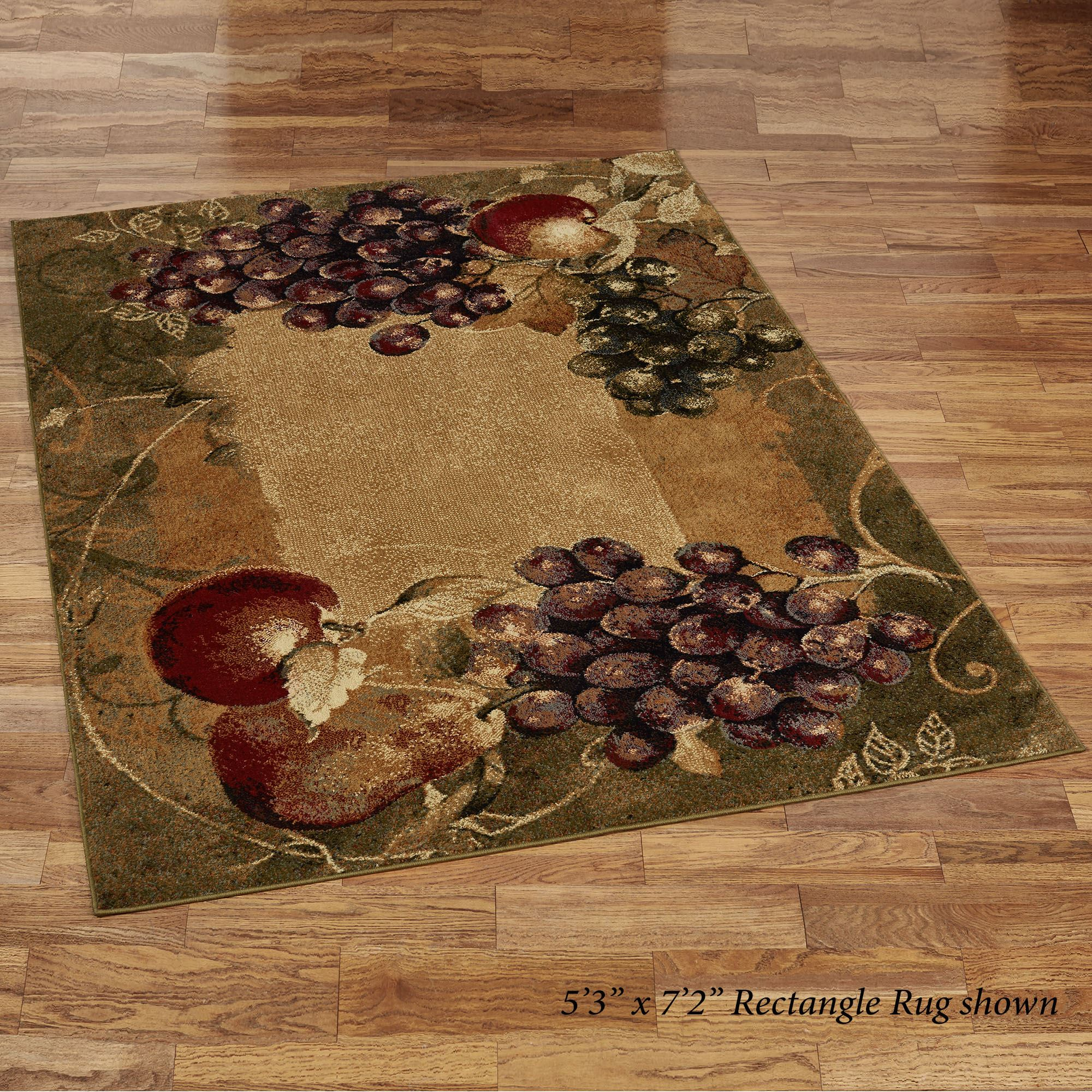 Tuscan Countryside Fruit Area Rugs
